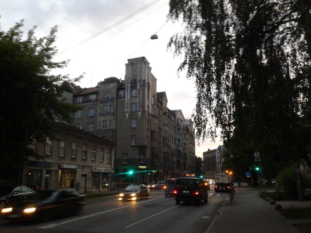 Lāčplēša Street, the neighborhood of center
