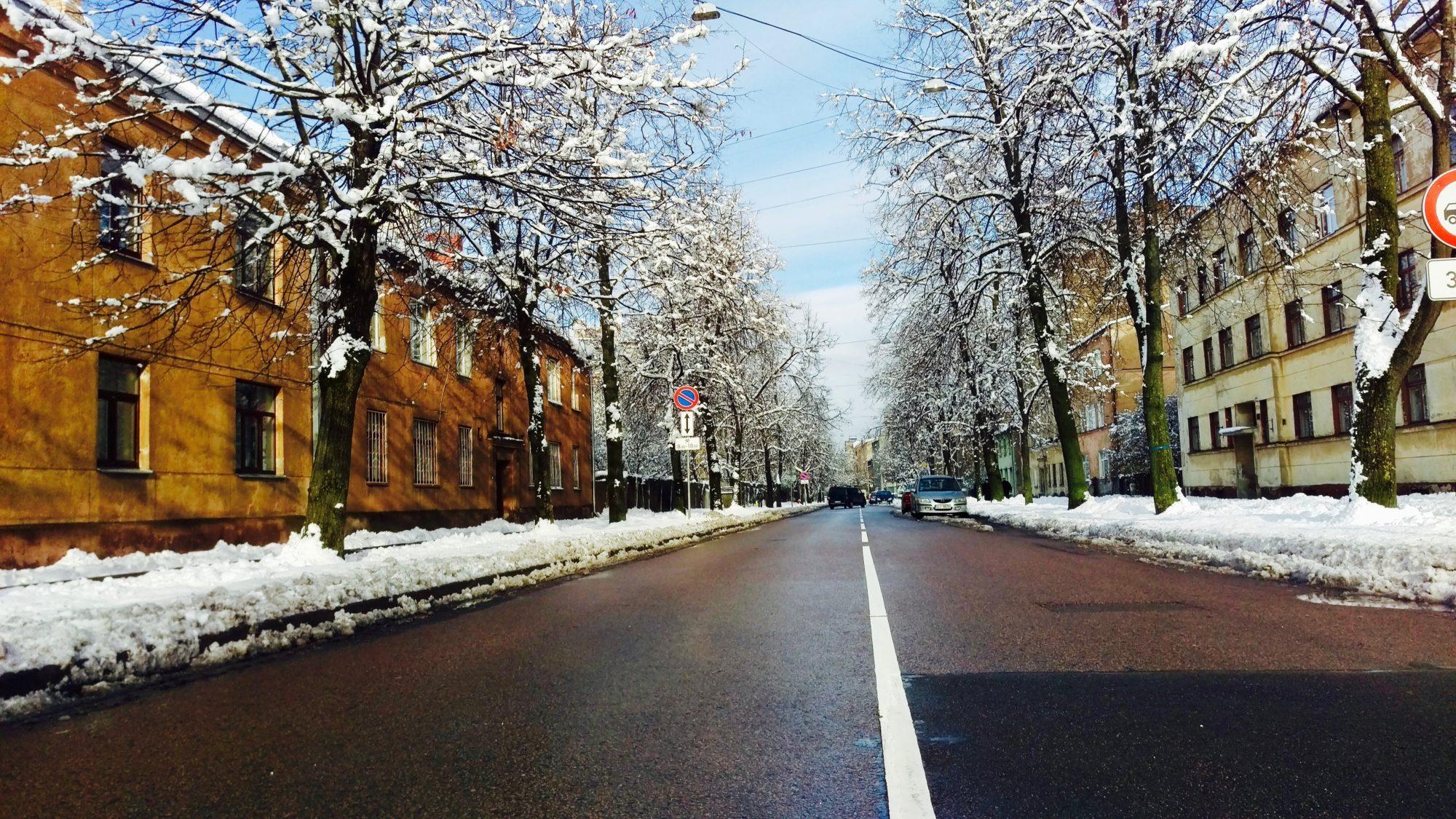 Pērnavas Street - neighborhood of Grīziņkalns