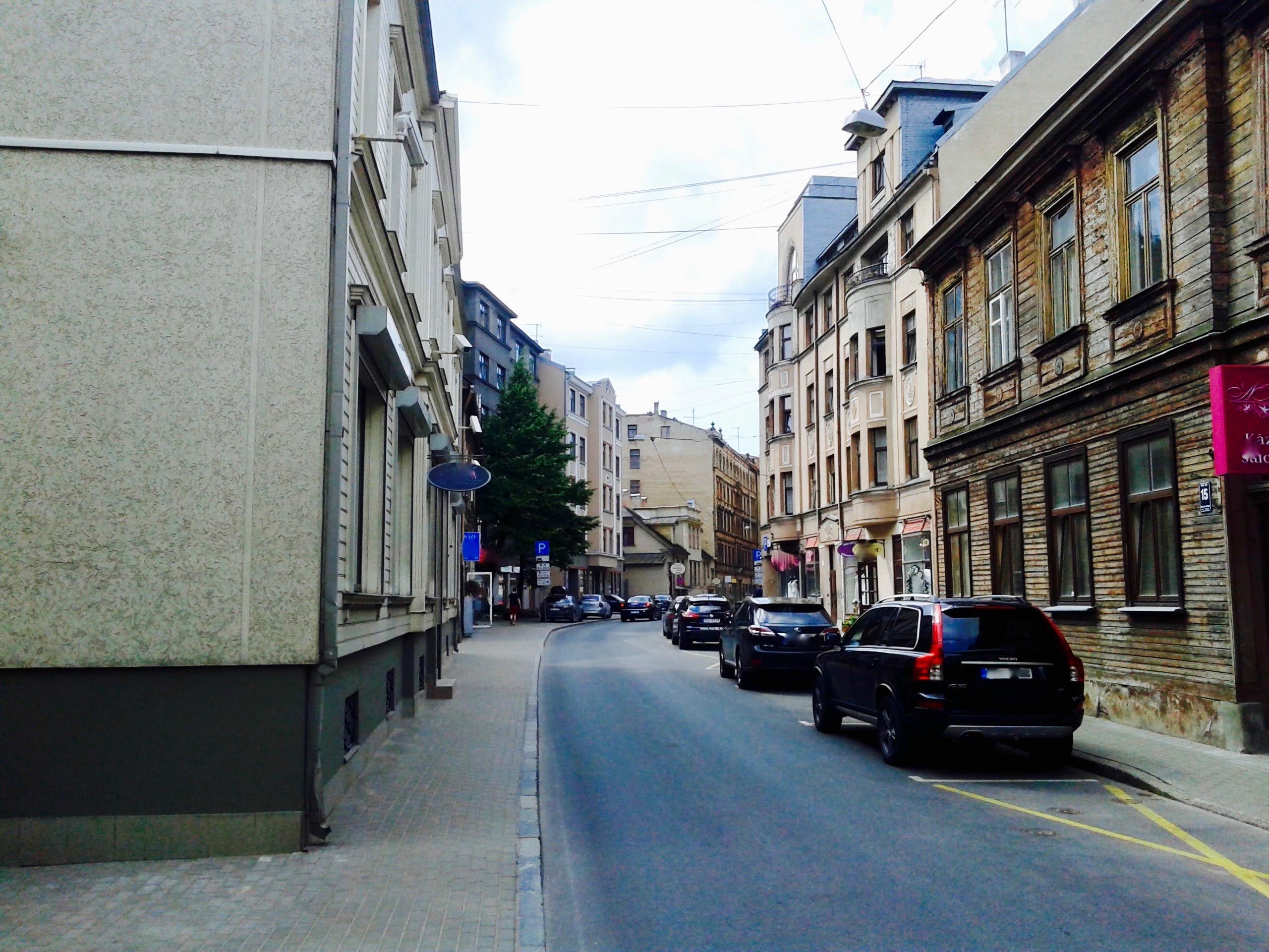 Residential buildings on Avotu street