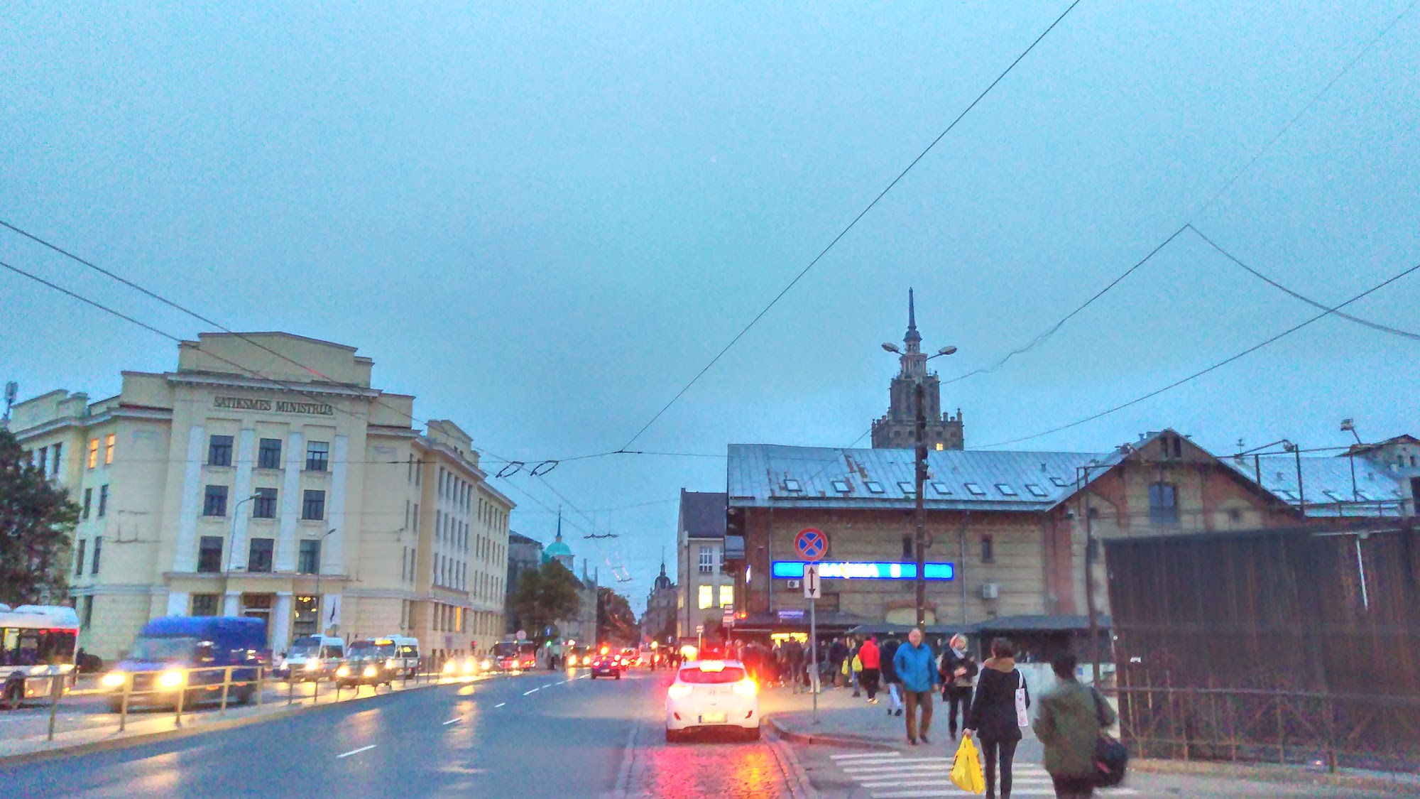 The border with Center neighborhood ends with Riga central market