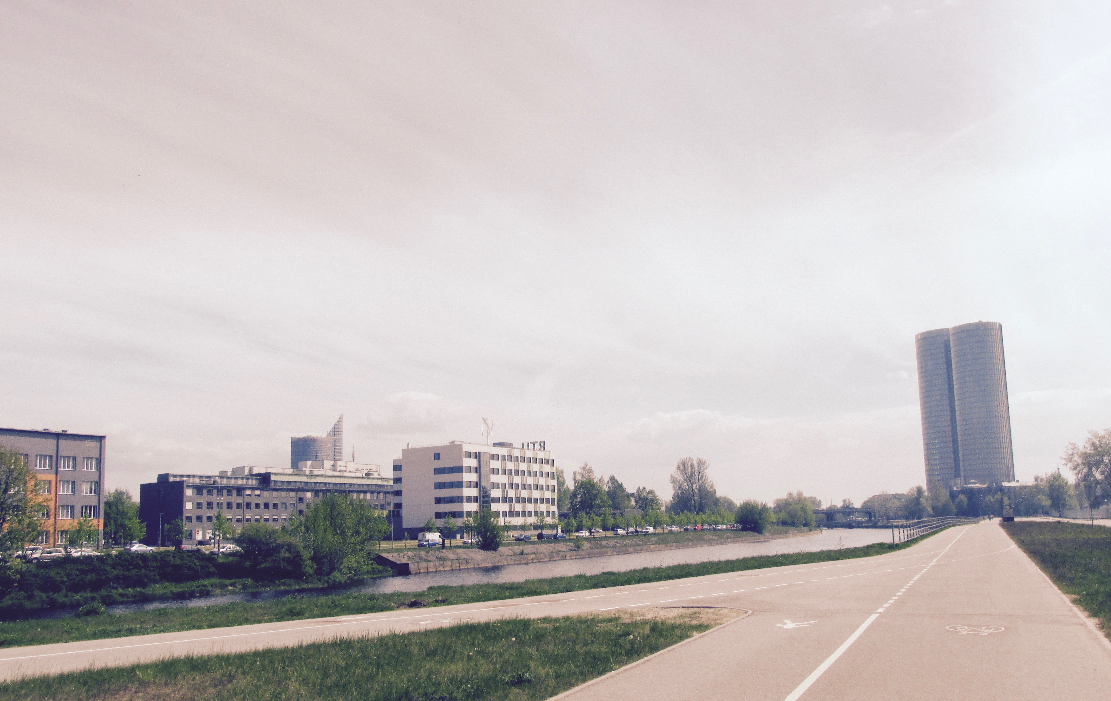 RTU campus and Kipsala neighborhood is connected by bicycle path