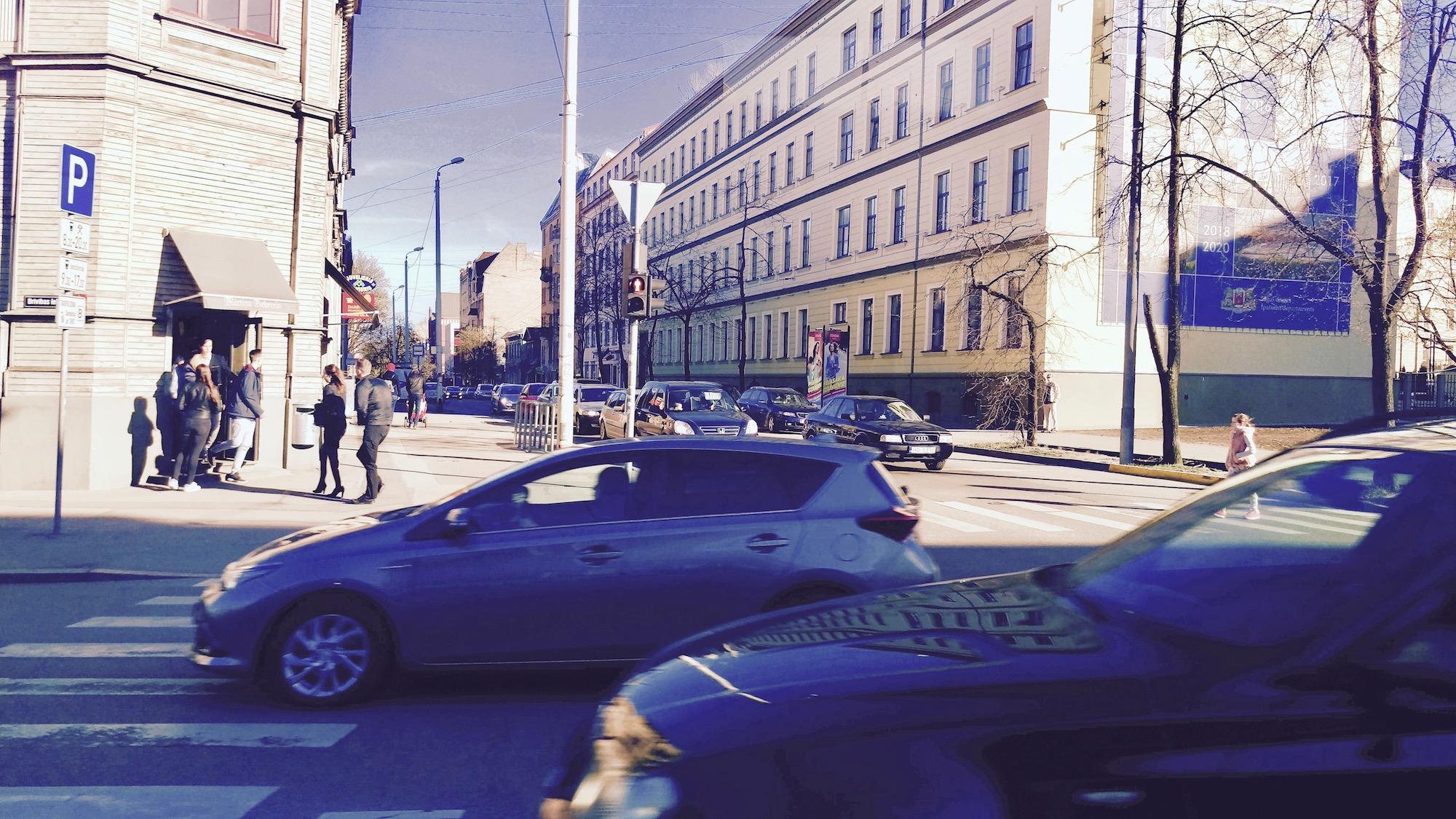 Crossroads between Stabu and Brīvības street