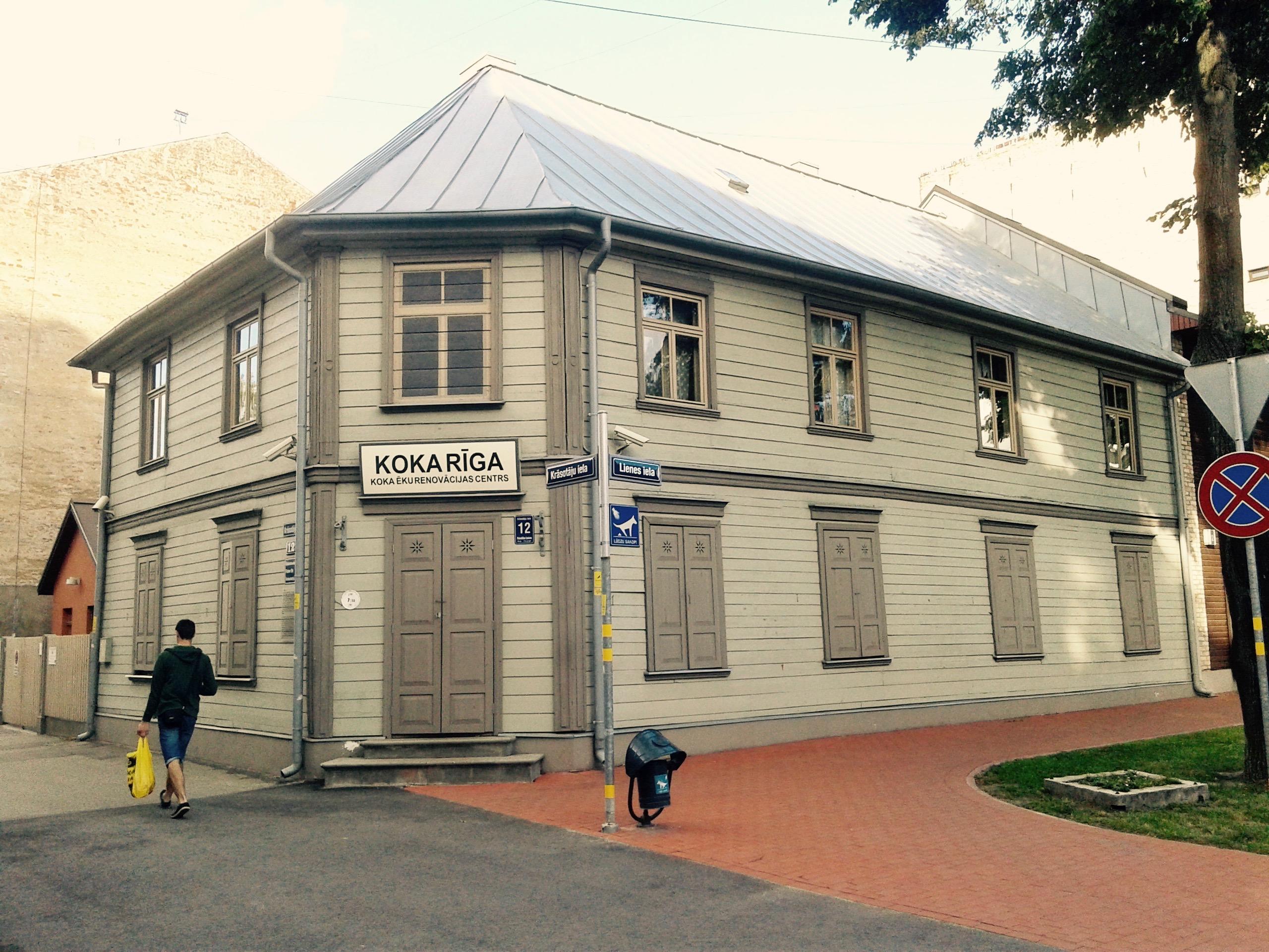 Wooden building at Krasotaju Street