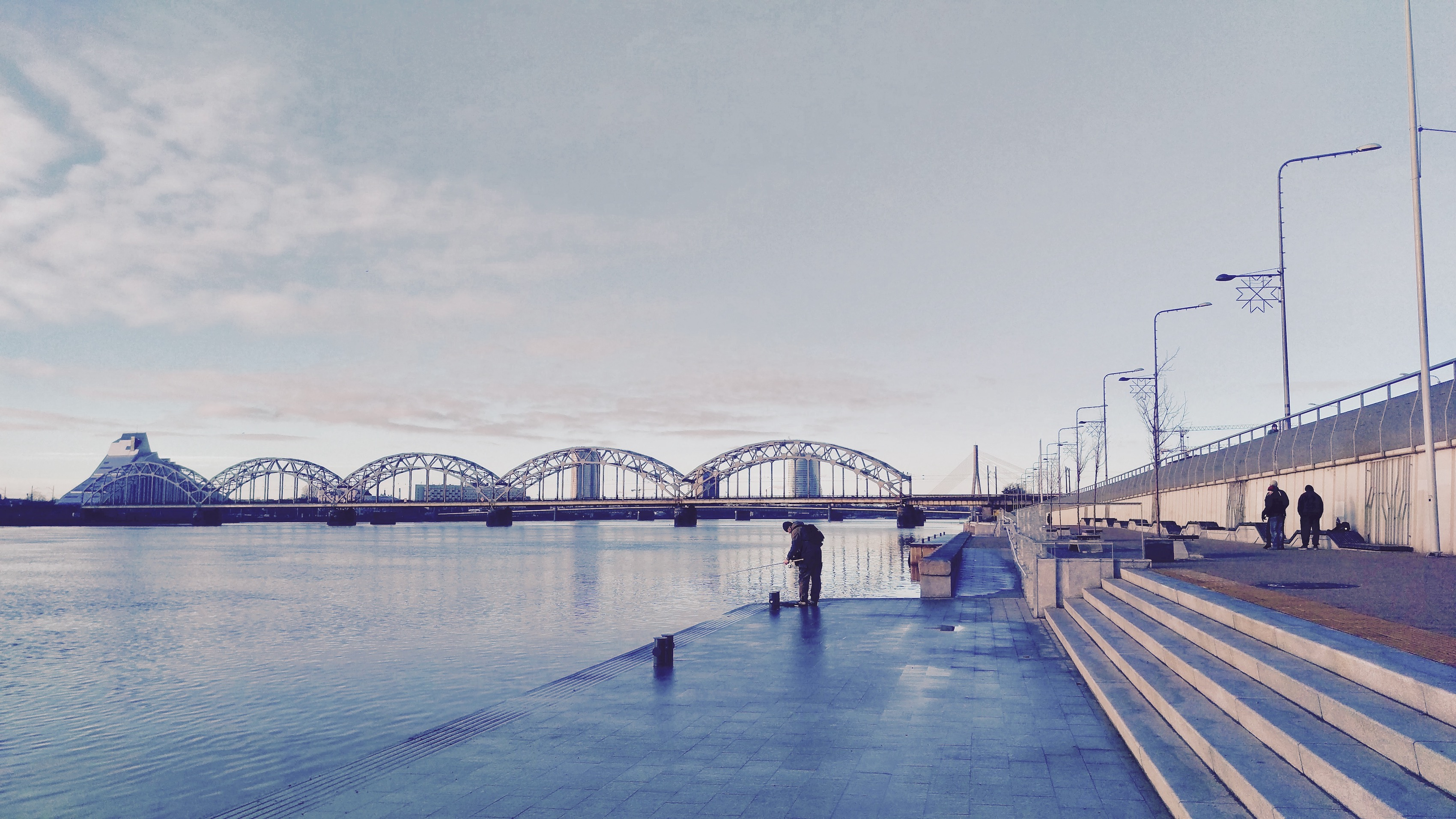 A beautiful view of Daugava promenade in Moscow District