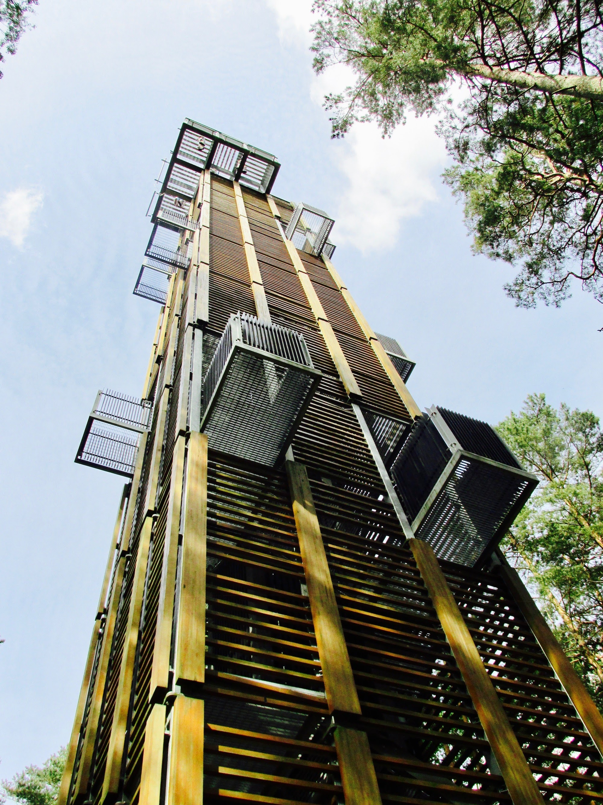 A viewing tower with the height of 33.5 m