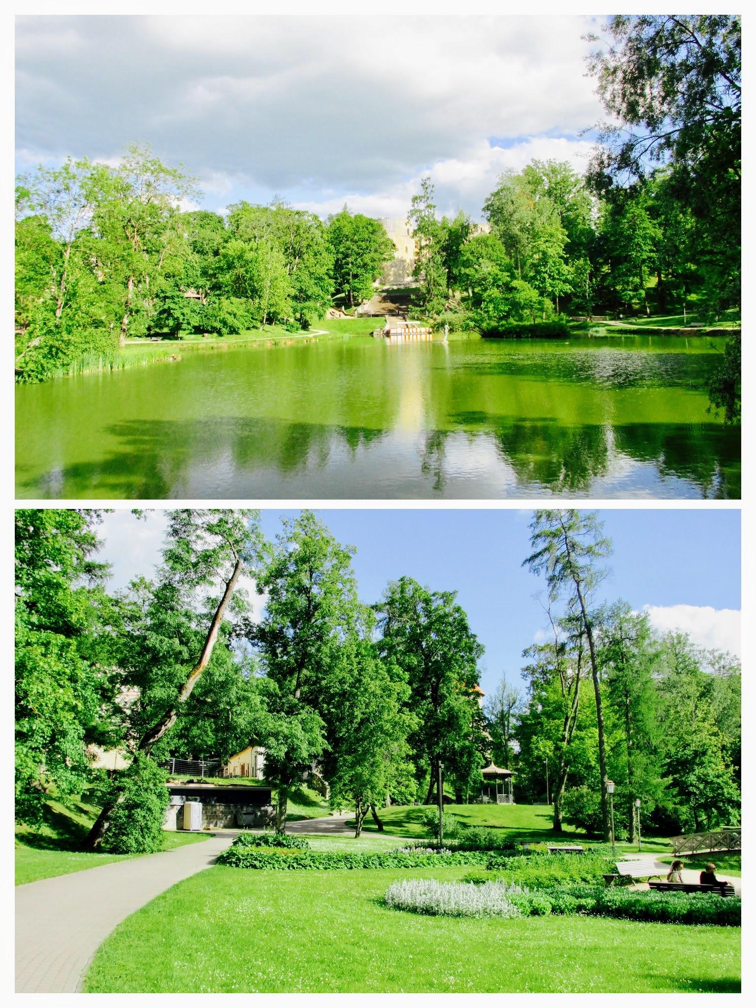 Cesis castle park.