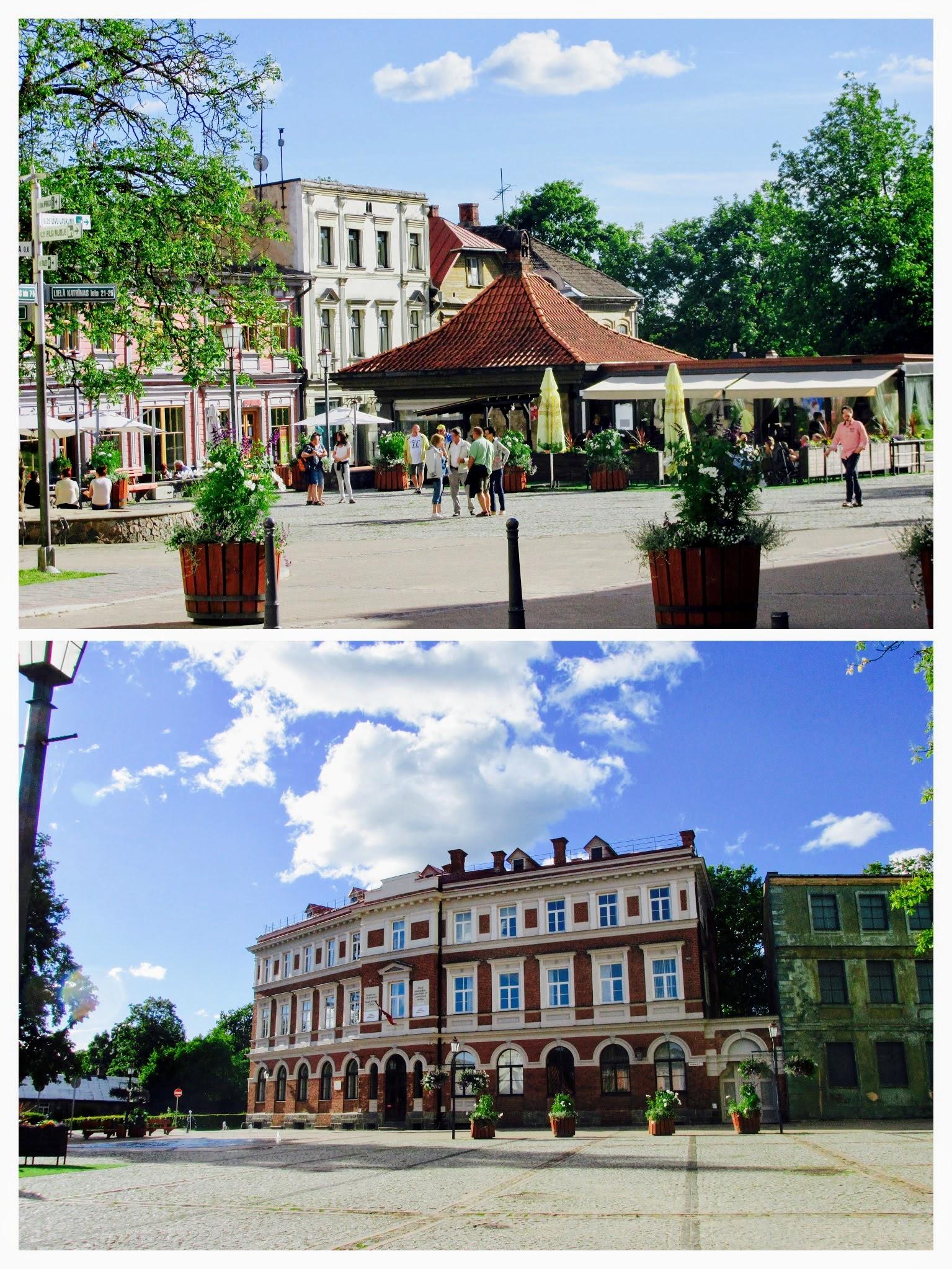 City square of Cesis.
