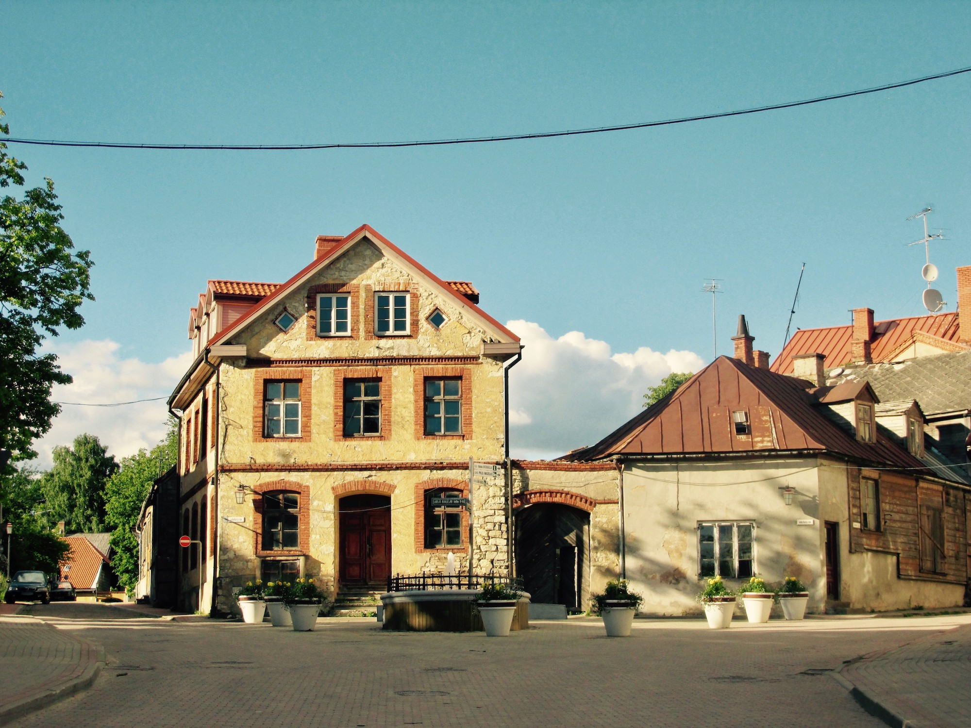Sunny day in the Old Town of Cesis.