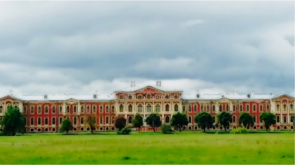 Jelgava Palace is a remarkable masterpiece of 18th century