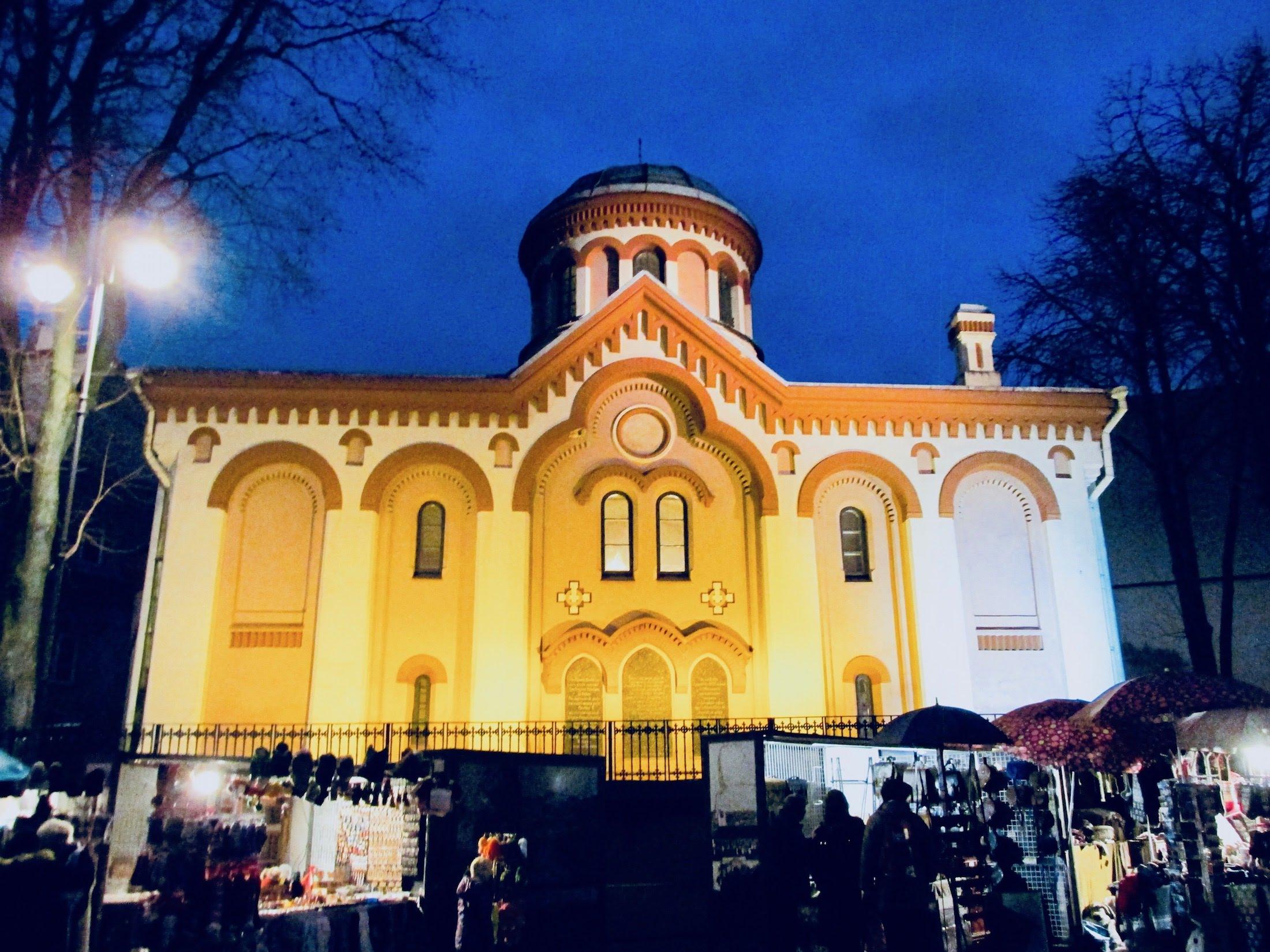 Beautifully enlightened church building