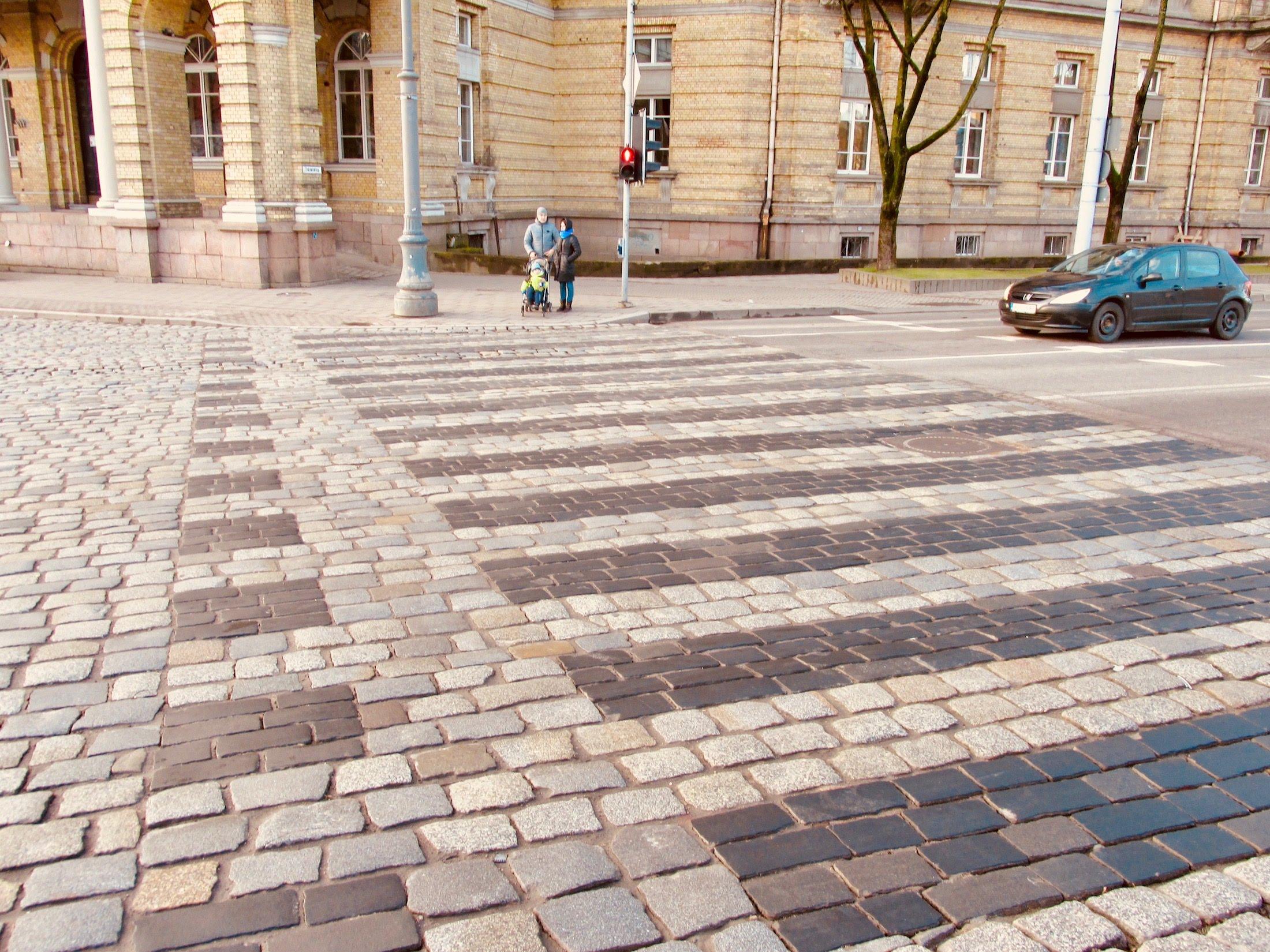 Cobblestone streets in Vilnius