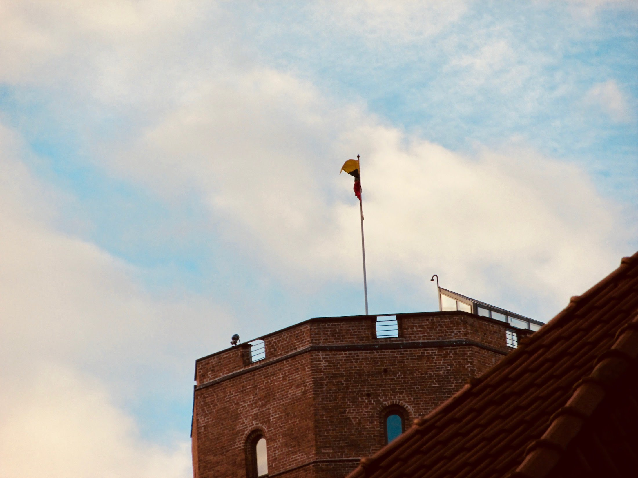 The flag of Lithuania was re-hoisted atop the tower on October 7, 1988