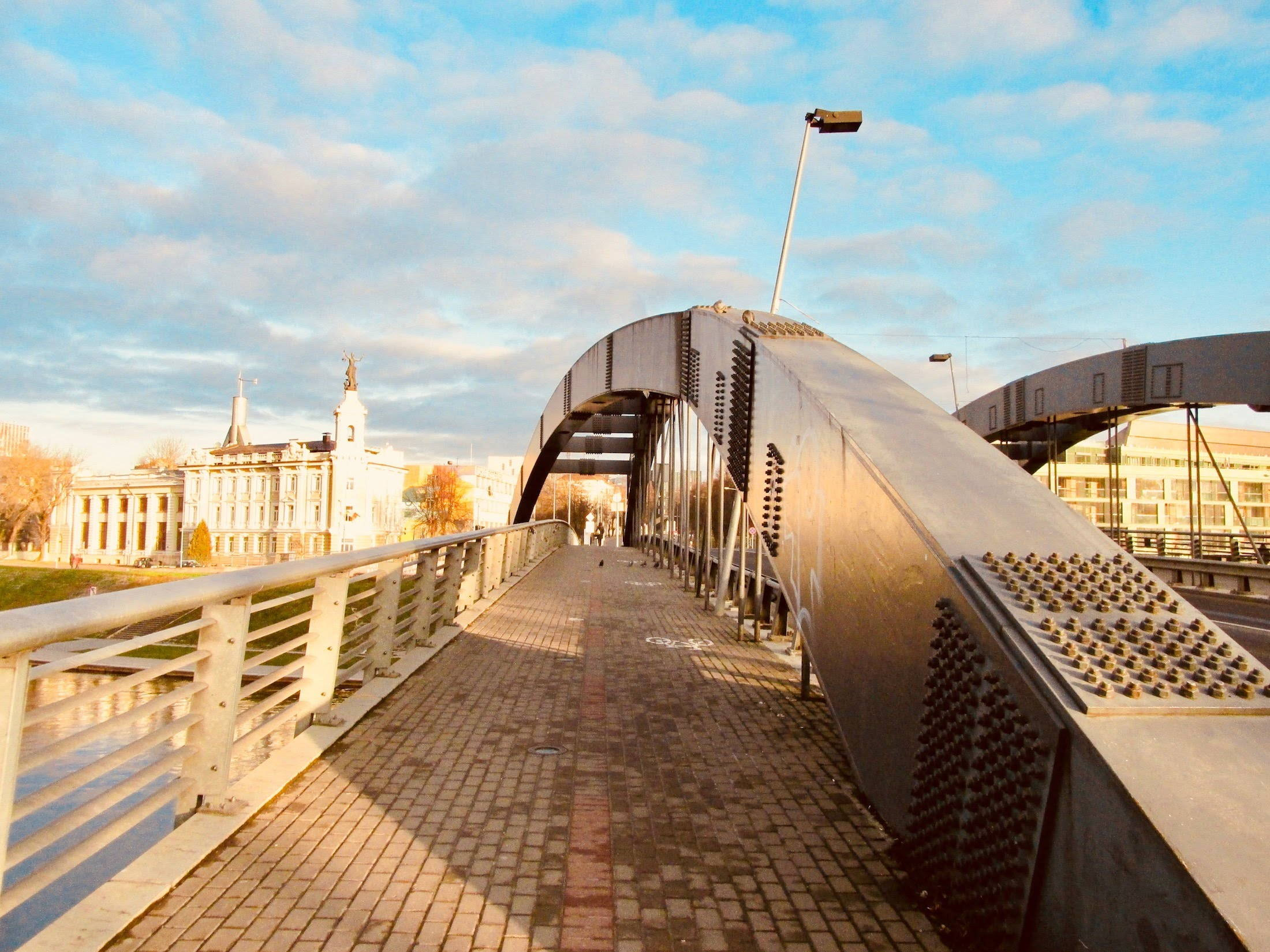 The bridge was named after Mindaugas, King of Lithuania