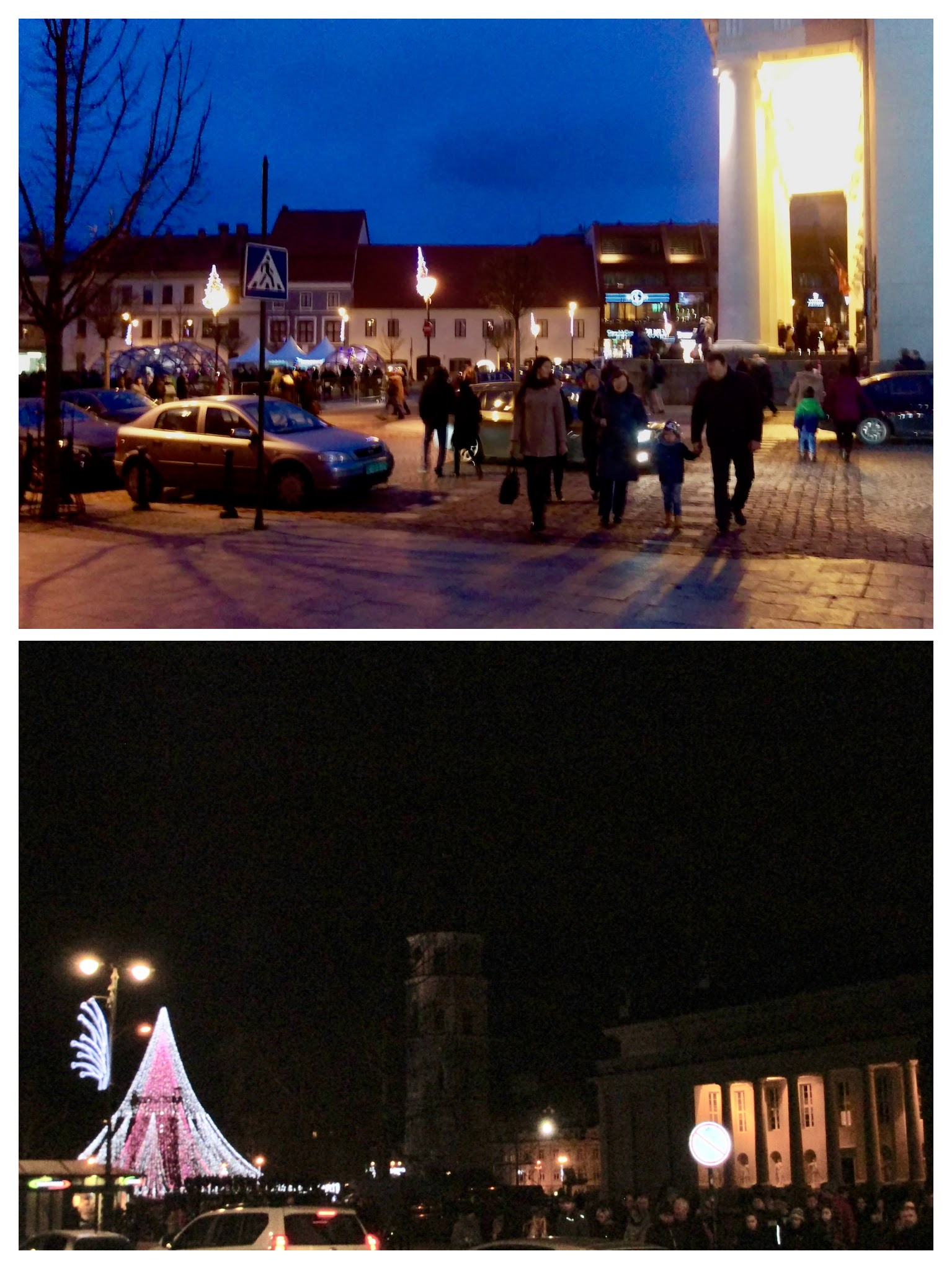 Local community enjoying the festivities at the evening time.