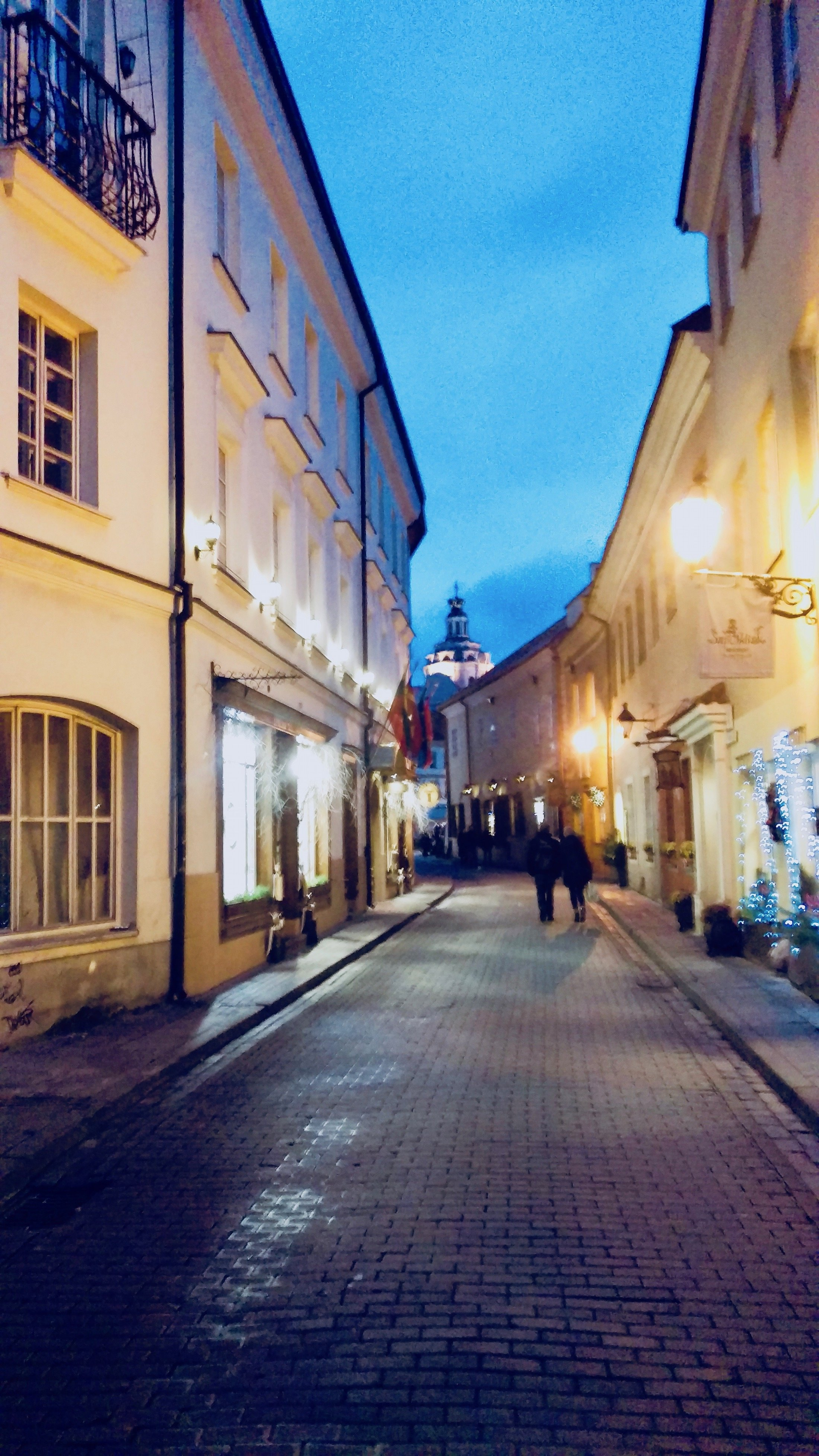 Narrow streets in the Old Town of Vilnius