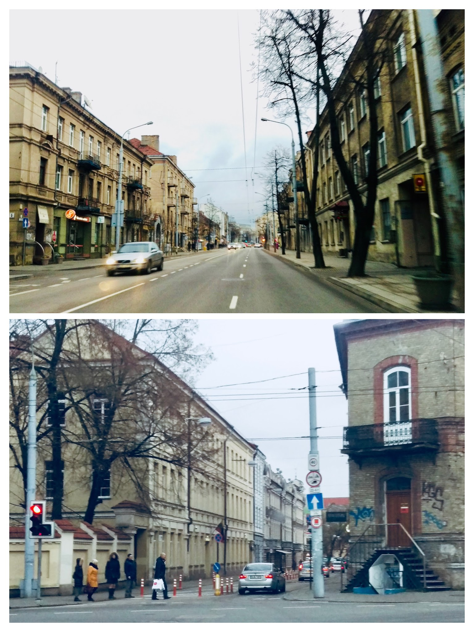 Entering the Center neighborhood and Old Town neighborhood in Vilnius