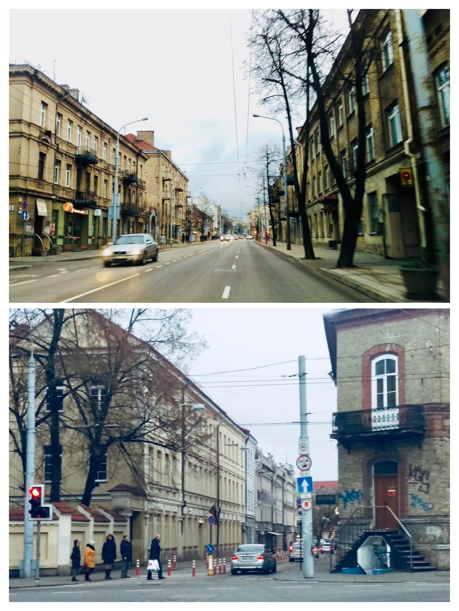 Entering the Center neighborhood and Old Town neighborhood in Vilnius
