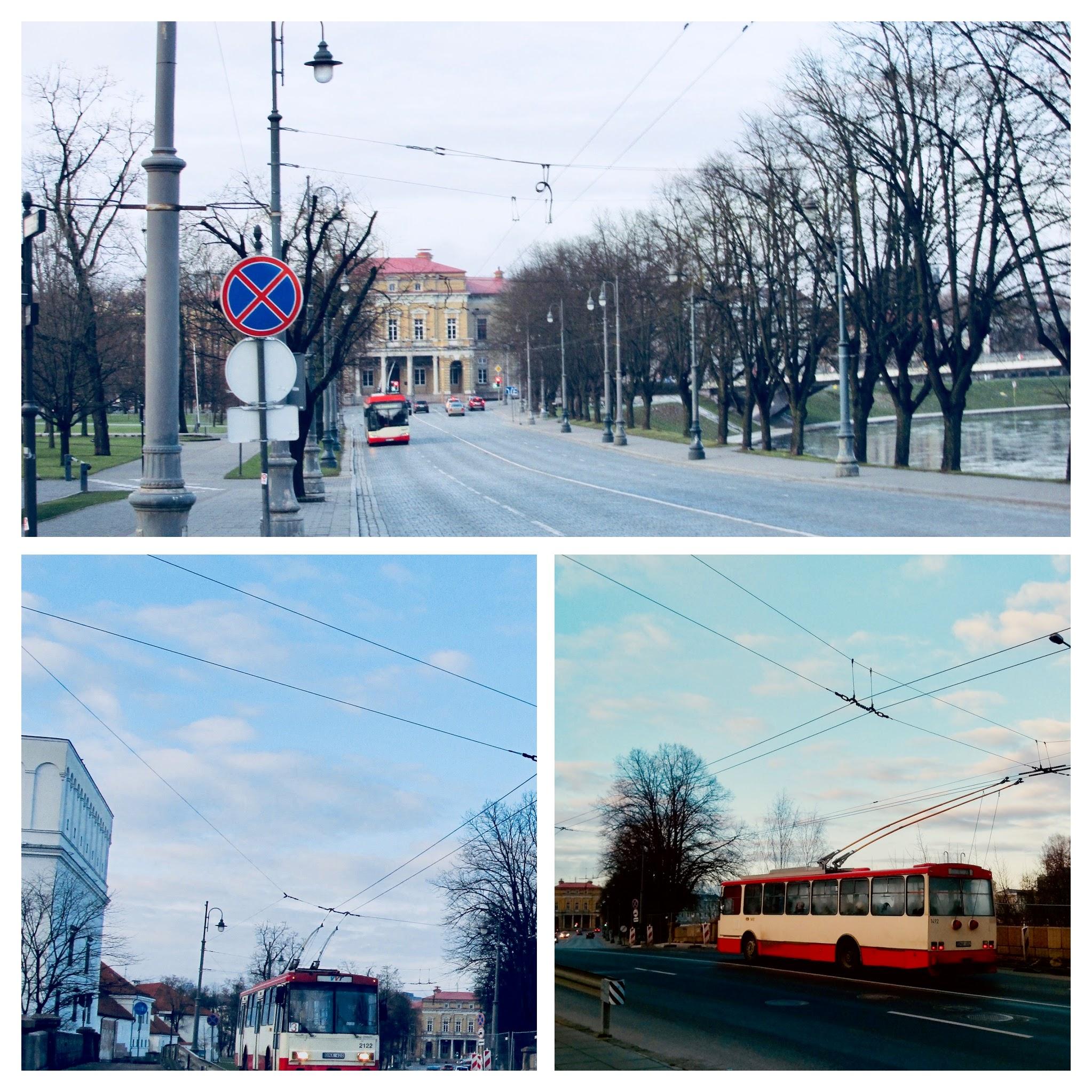 Public transportation in Vilnius.