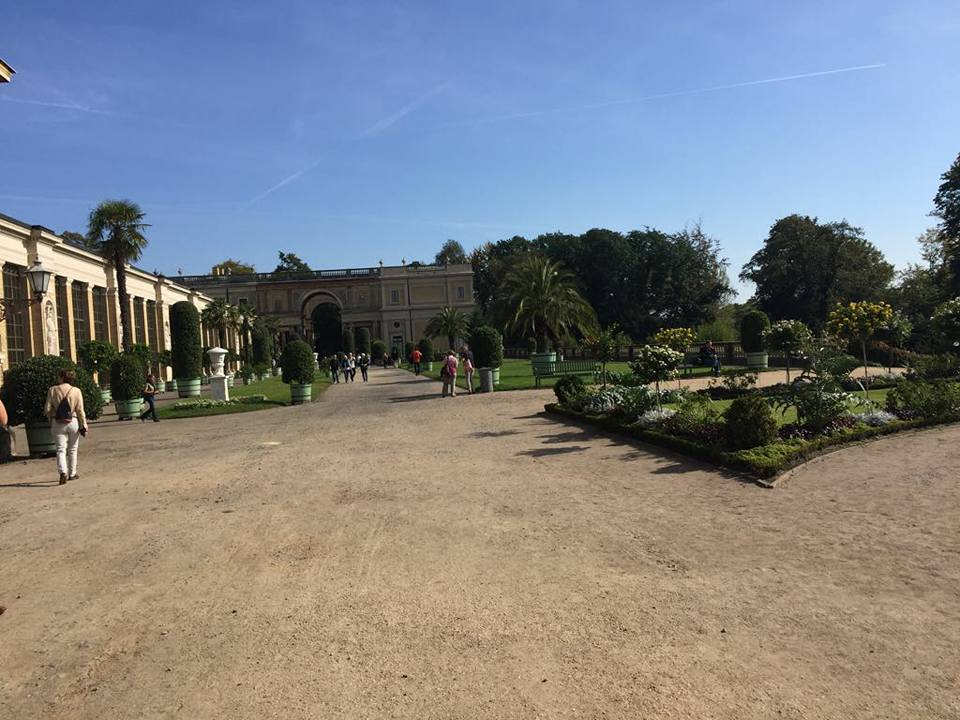 The front yard of The Orangery Palace, Potsdam.