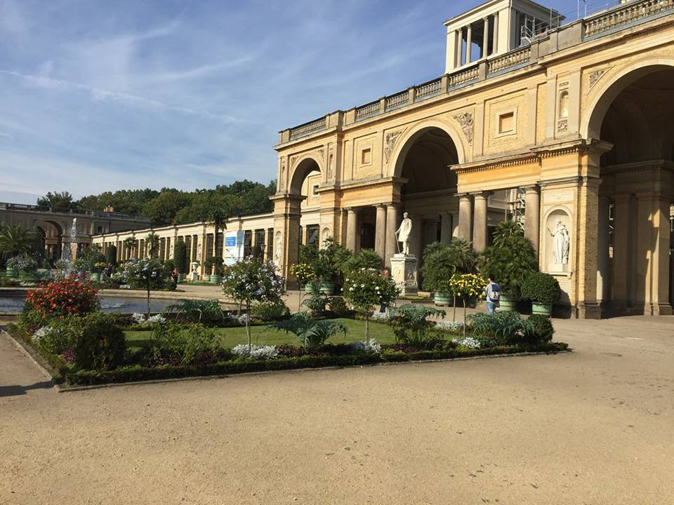 The garden next to The Orangery Palace.