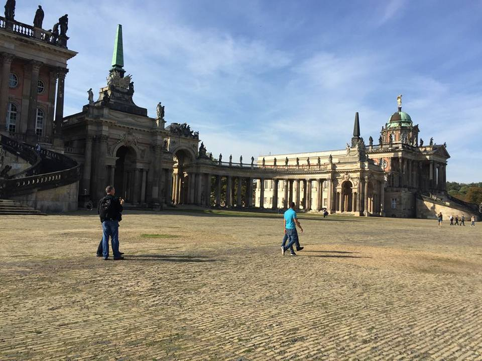 Comuns at the New Palace of Sanssouci.