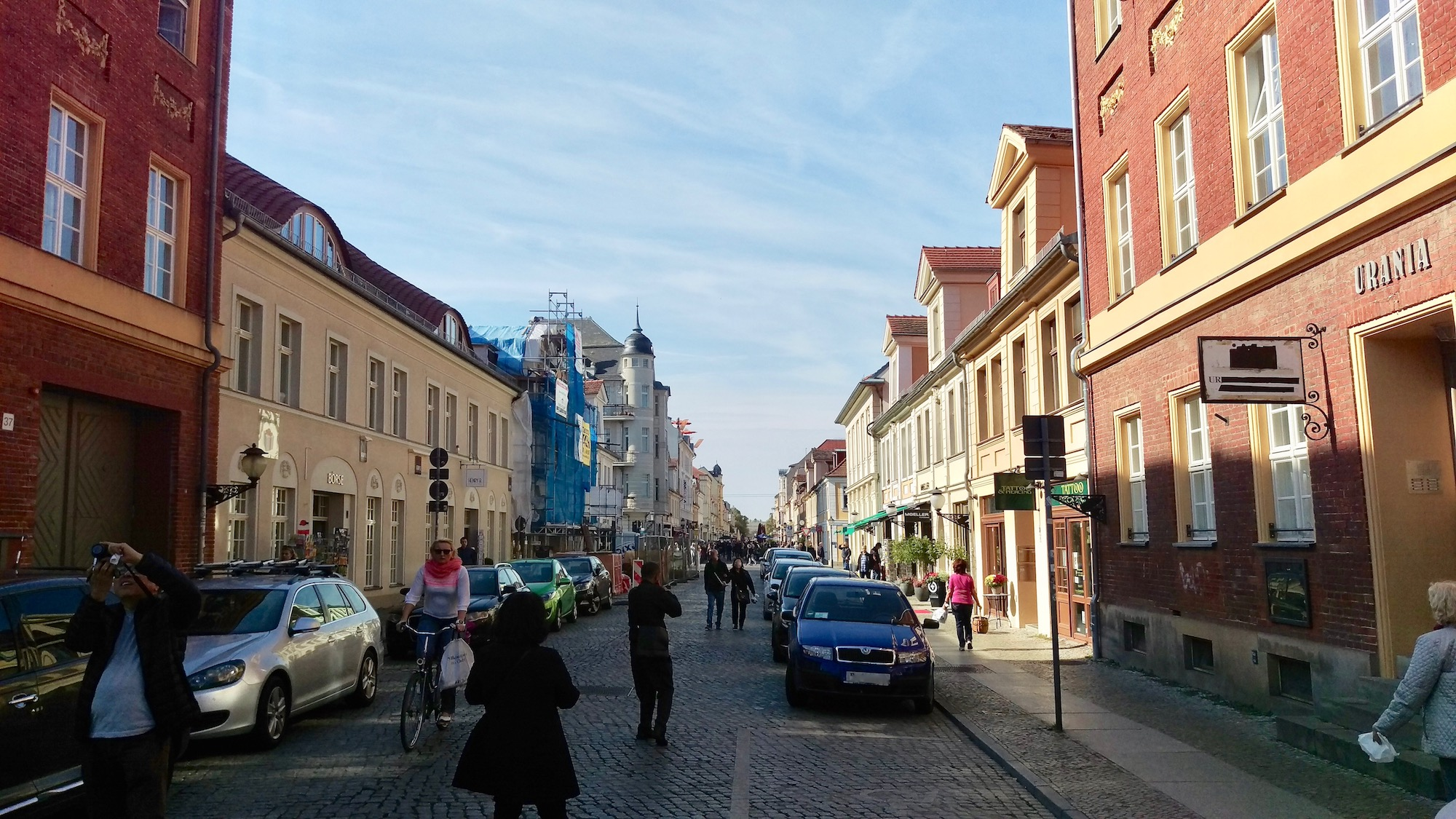 Brandenburger street is one of the most active streets in Potsdam.