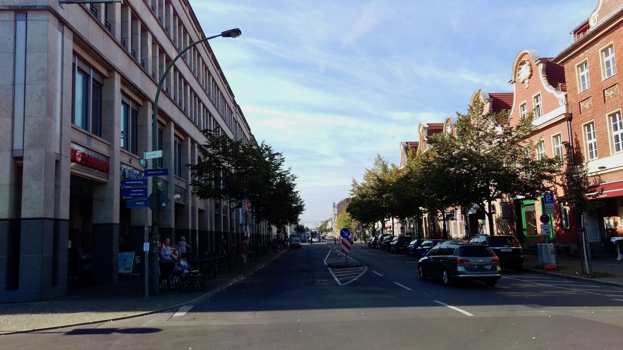 The beginning of Dutch Quarter in Potsdam.