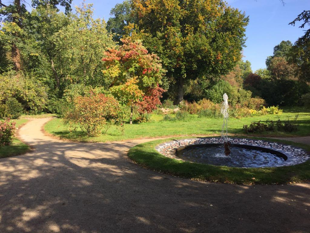 Fountain in the Sanssouci park