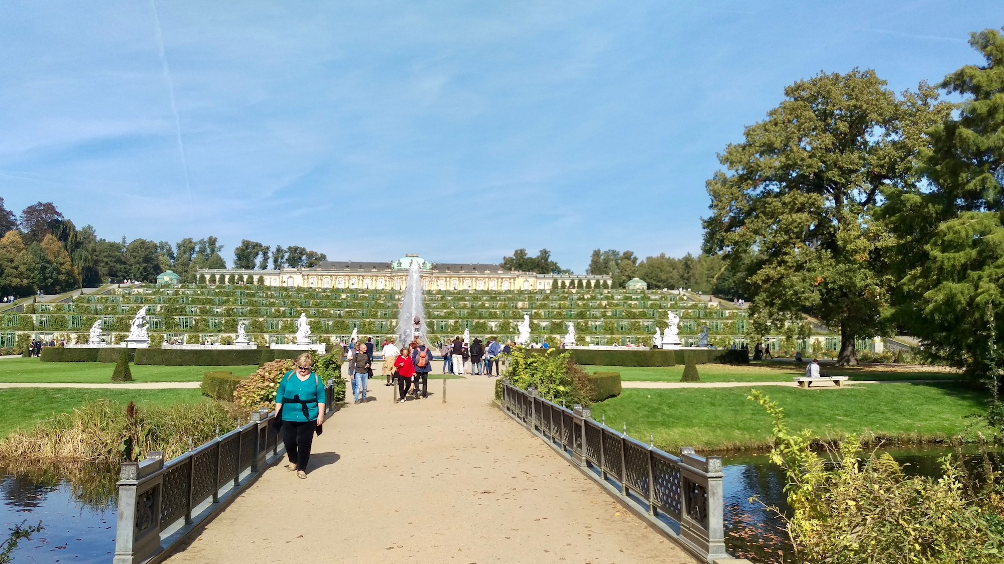 A beautiful autumn day in Sanssouci park.