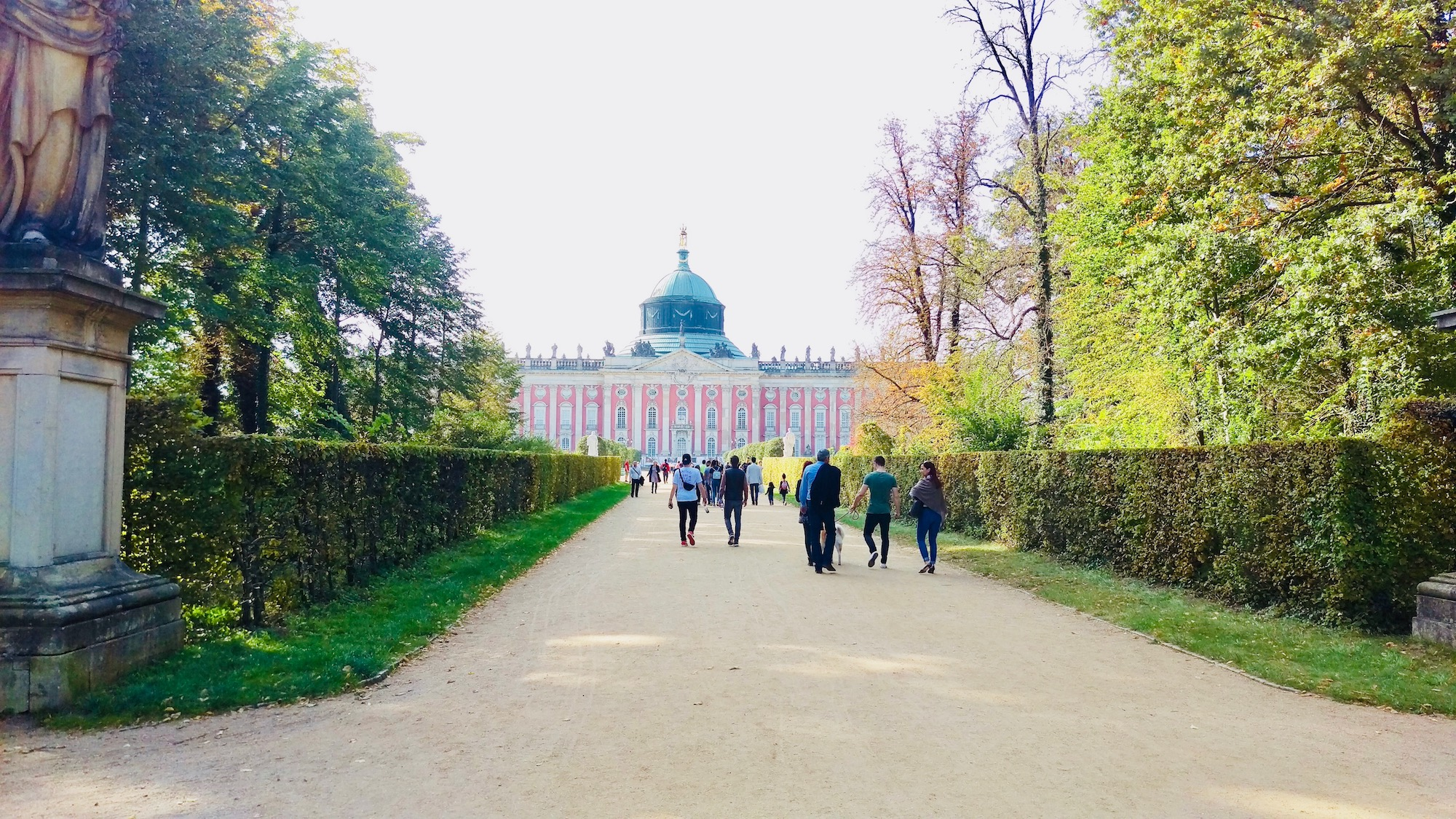 Alley that leads to New Palace, Potsdam.