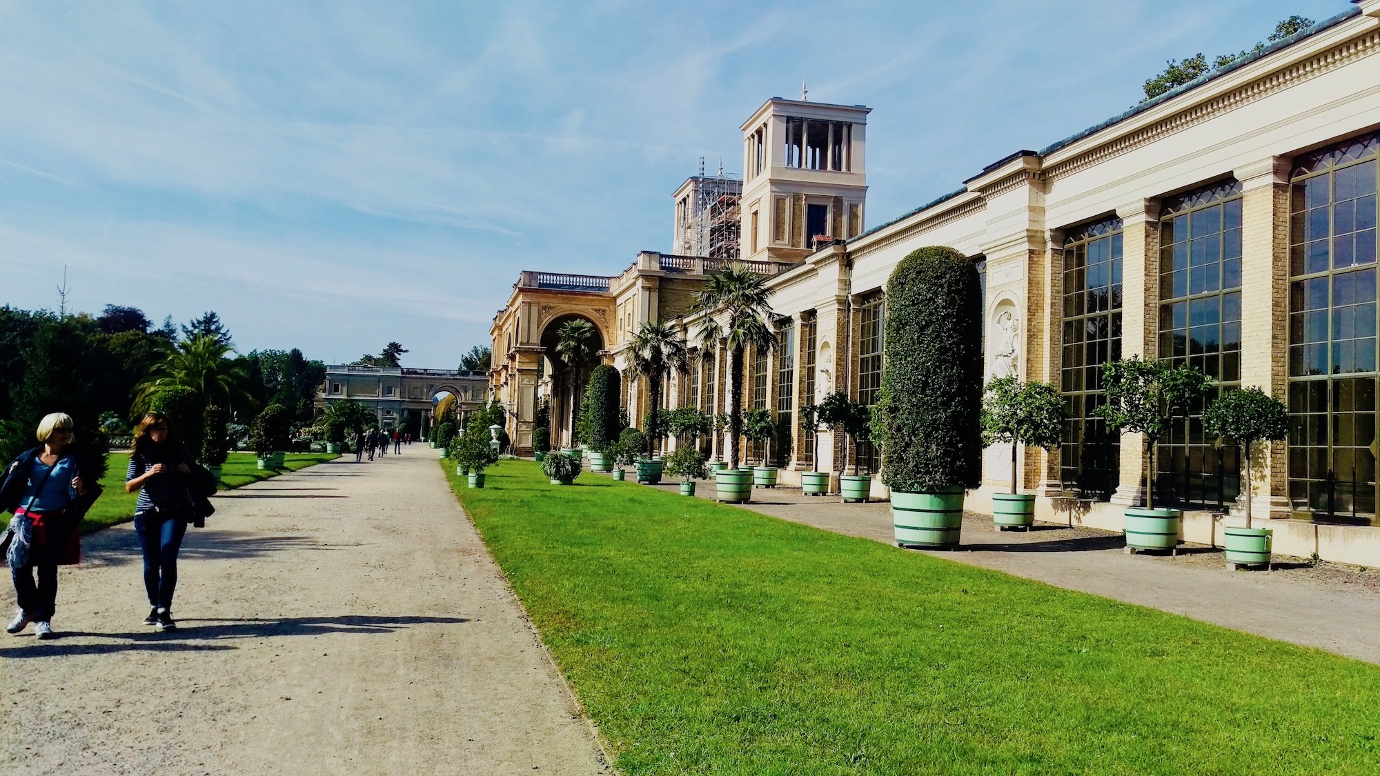 The Orangery Palace is a palace located in the Sanssouci Park.