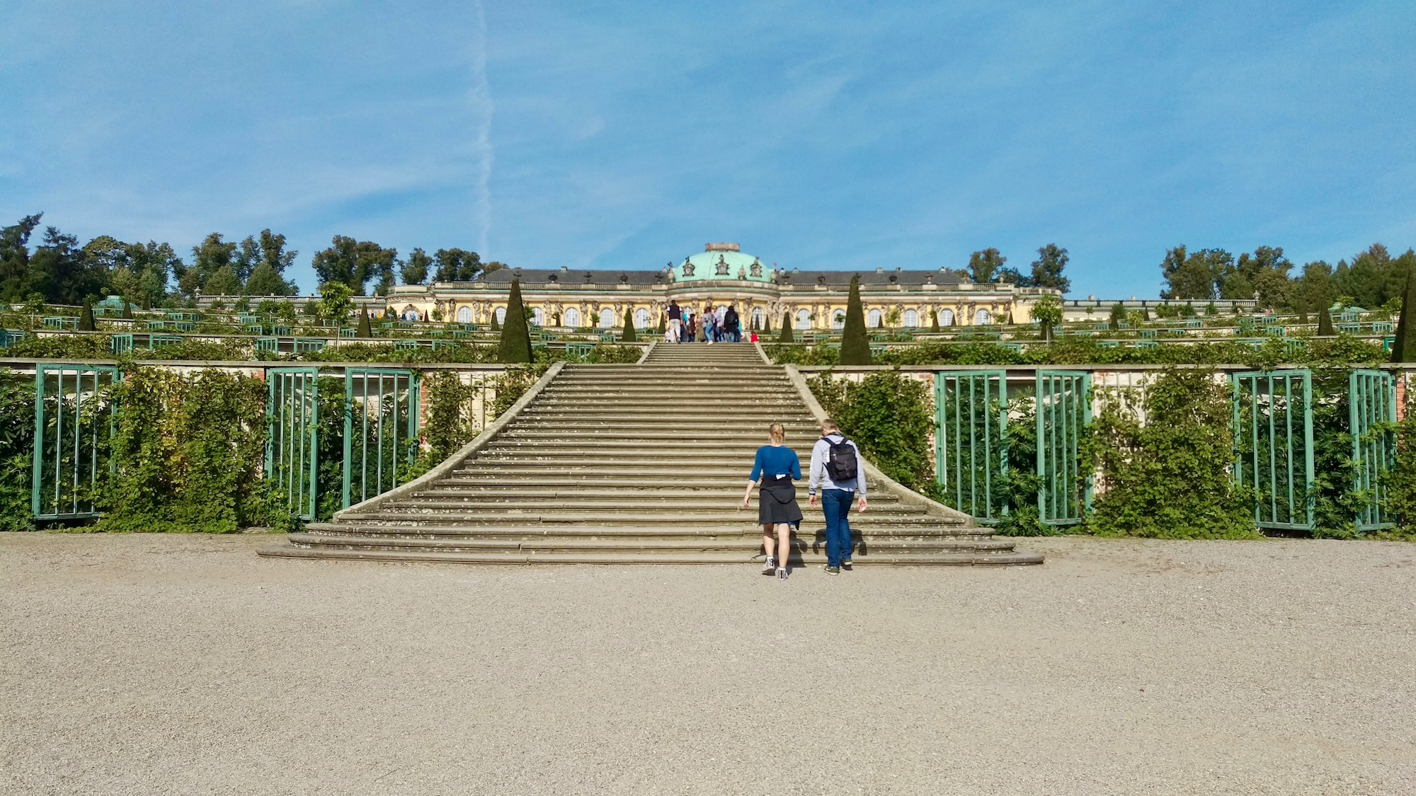 Stairs to Sanssouci park and the terracing of the vineyard.