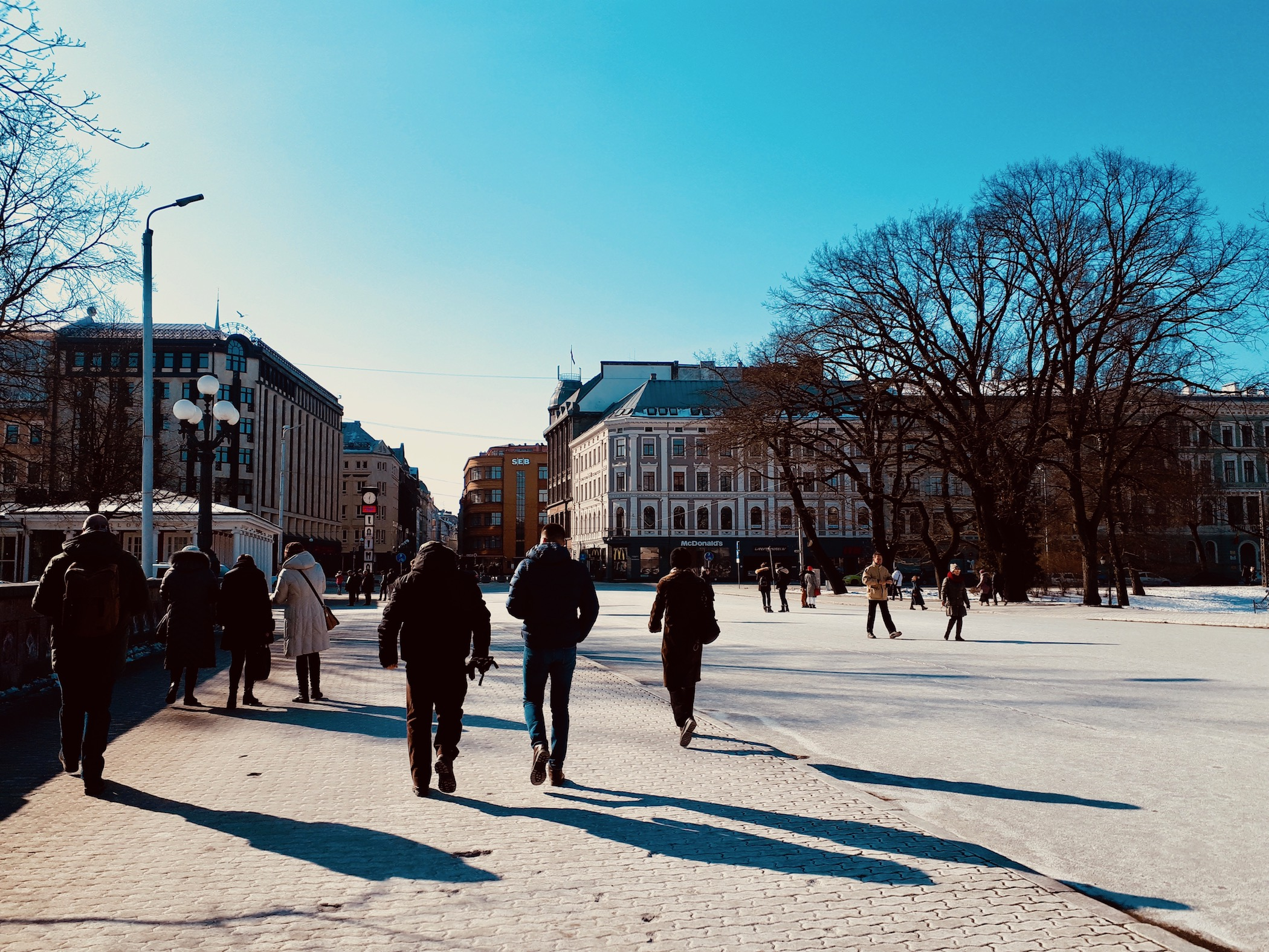 The Center neighborhood in Riga looks pretty magical in winter time!