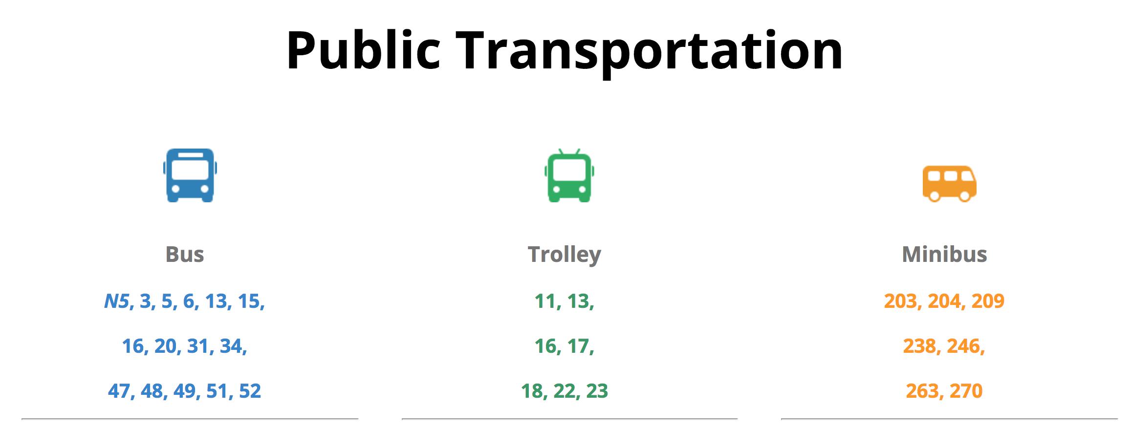 Public transport in Purvciems neighborhood, Riga.
