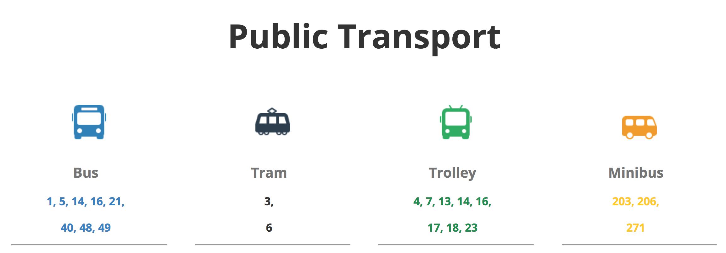 Public transport in Teika neighborhood, Riga.