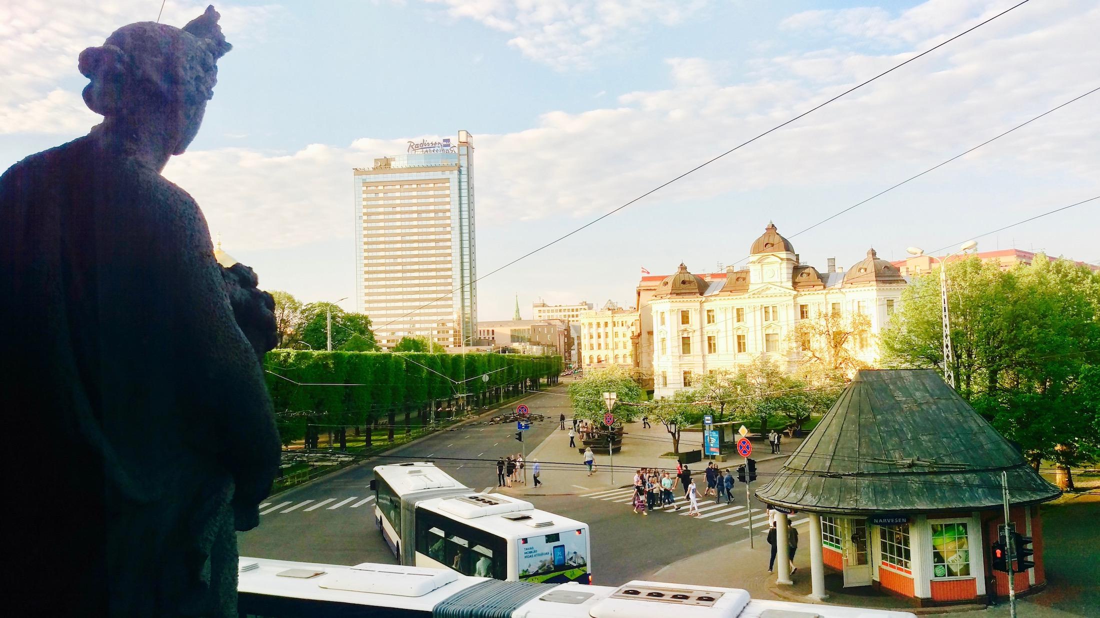 Sakta building overlooking Riga!