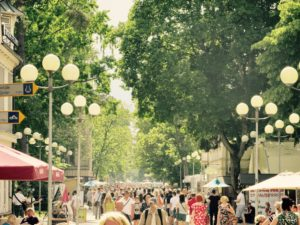 Jomas Street is the most popular street in Jurmala - Urban Treetops