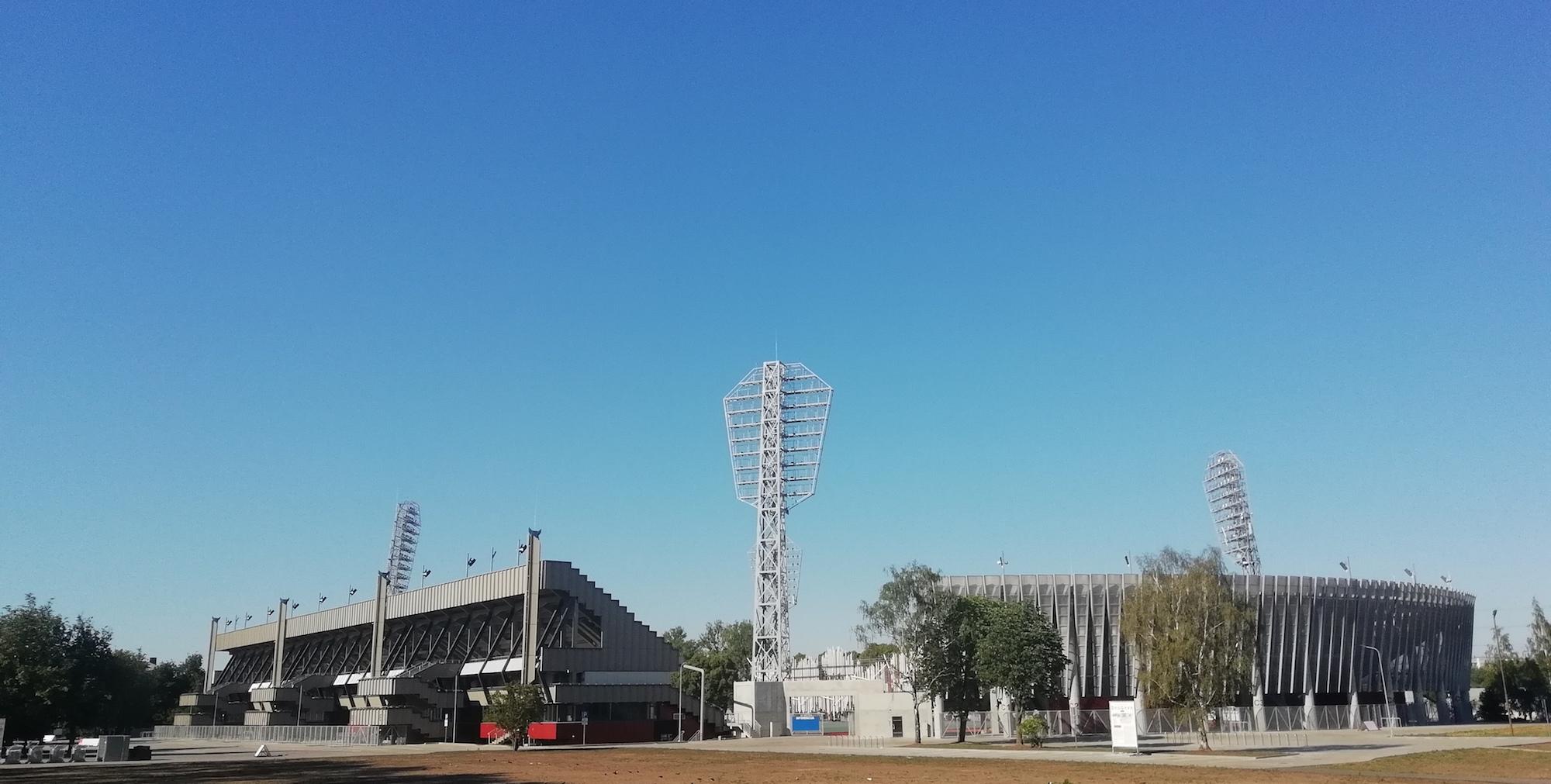 Daugavas stadium in Riga in Grizinkalns neighborhood