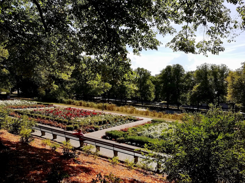 You can enjoy warm summer days in Grizinkalns park.