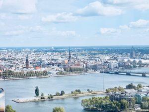 Skyline of Riga center