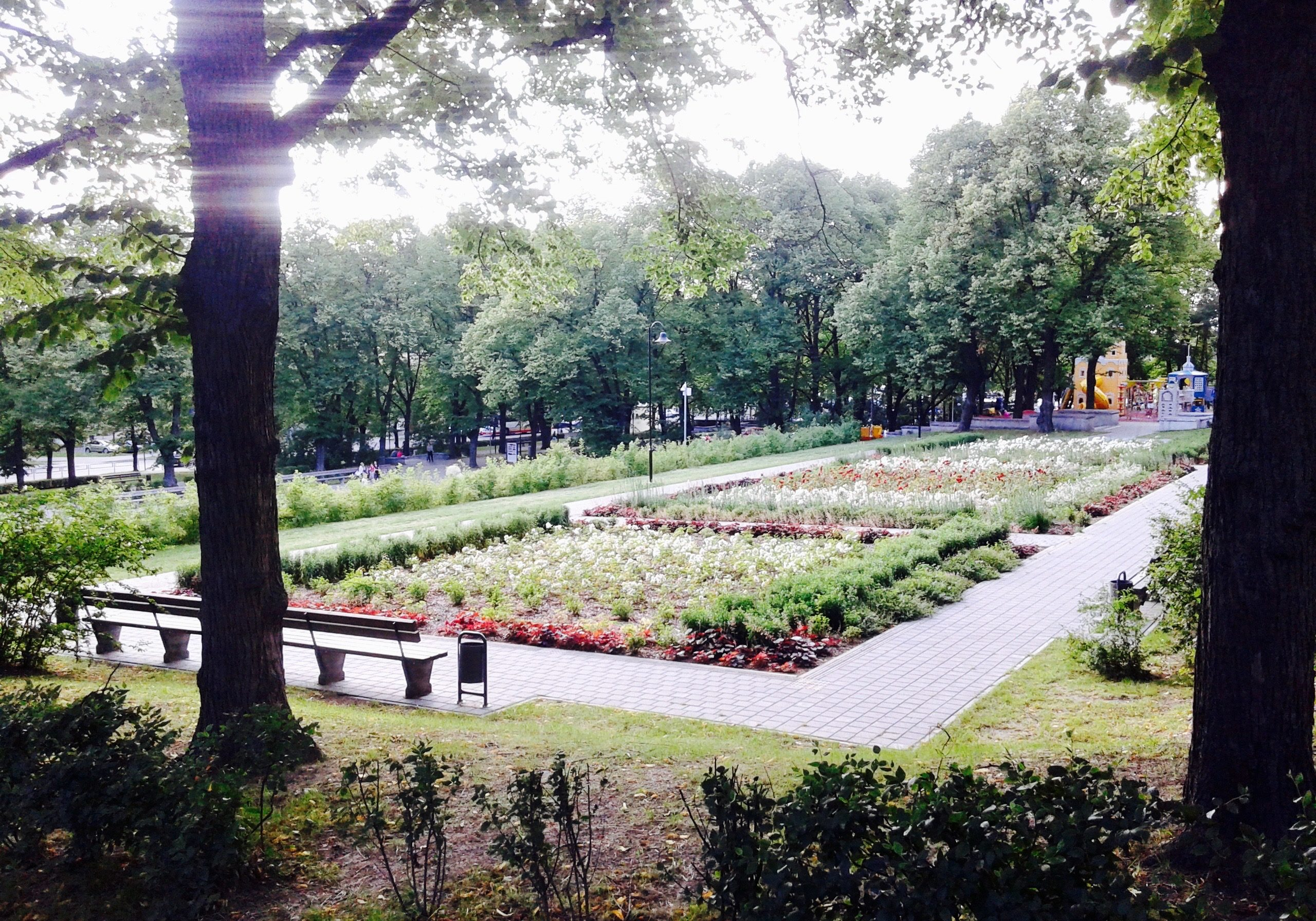 The park garden in Grizinkalns