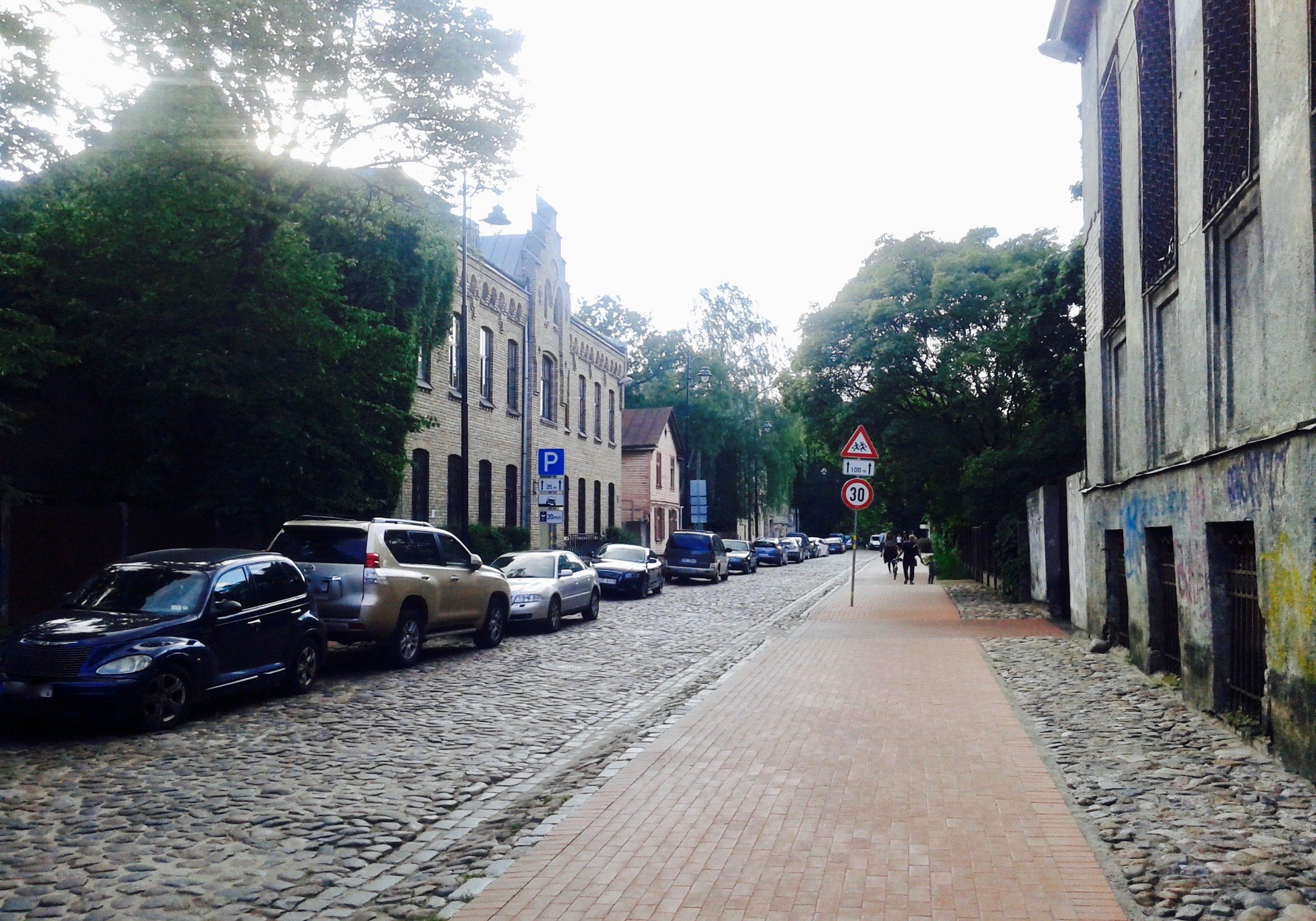 Paved streets of Grīziņkalns