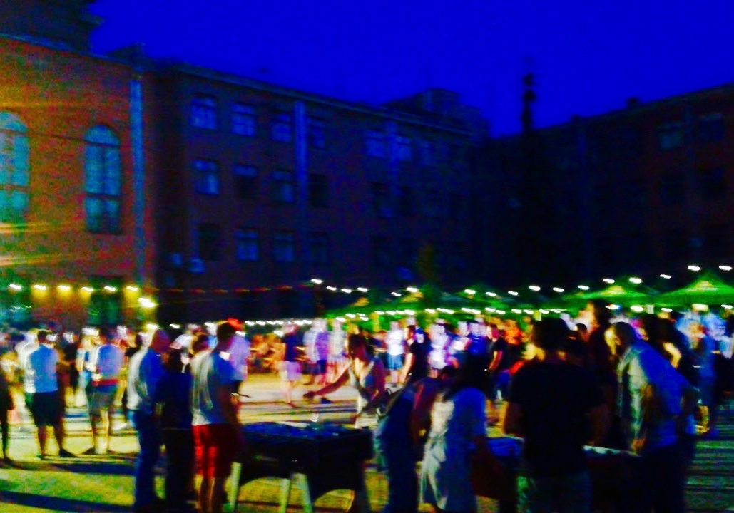 Community party in Old Town, Riga