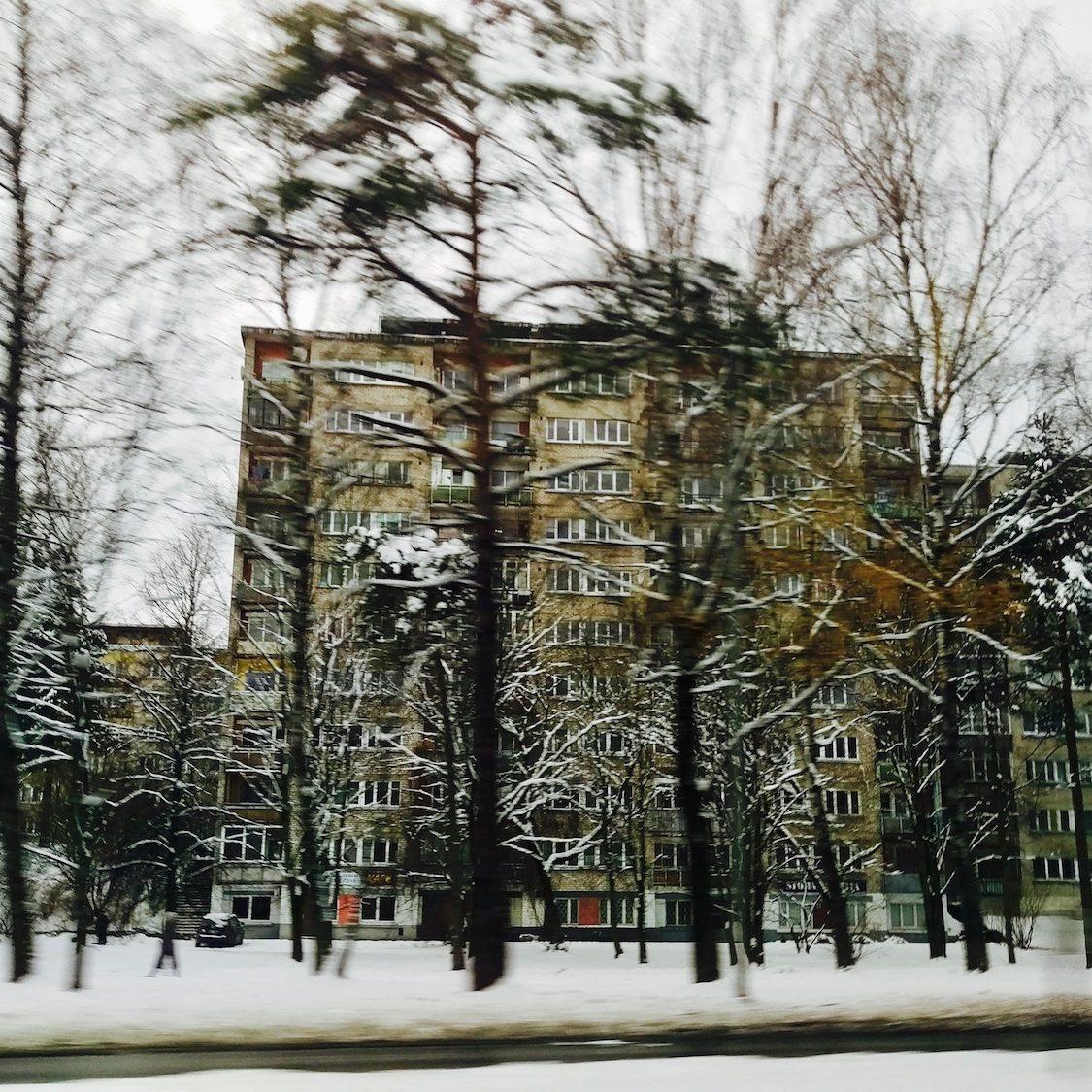 Border of Mezaparks neighborhood - Winter