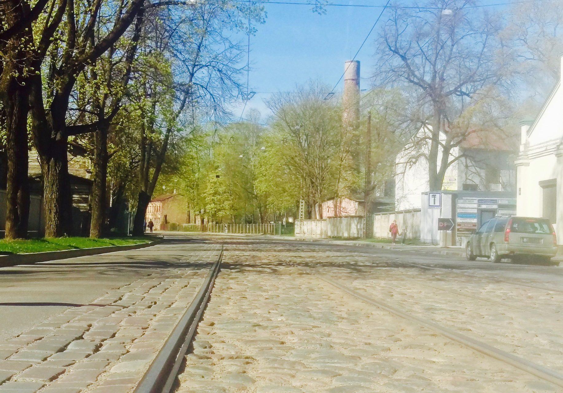 Slokas street & tram line
