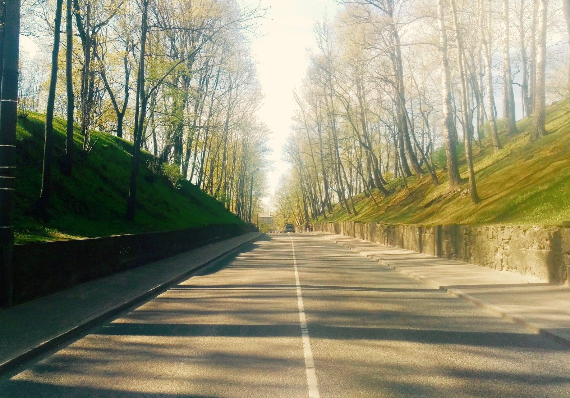 Buļļu street right next to Dzegužkalna park