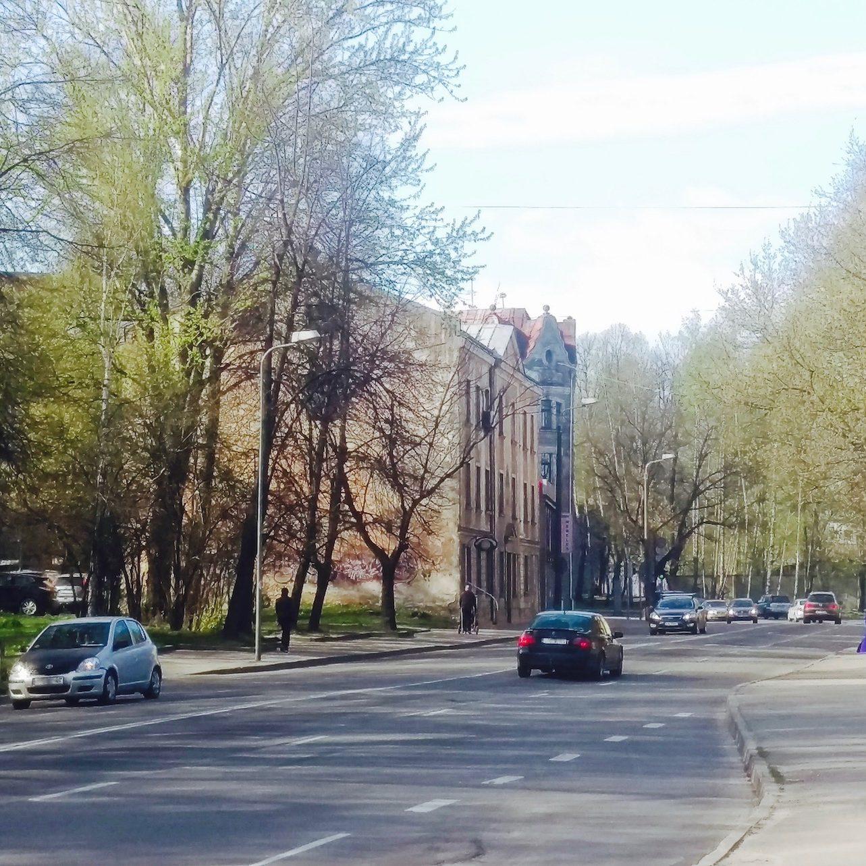 Public transport on Daugavgrīvas street