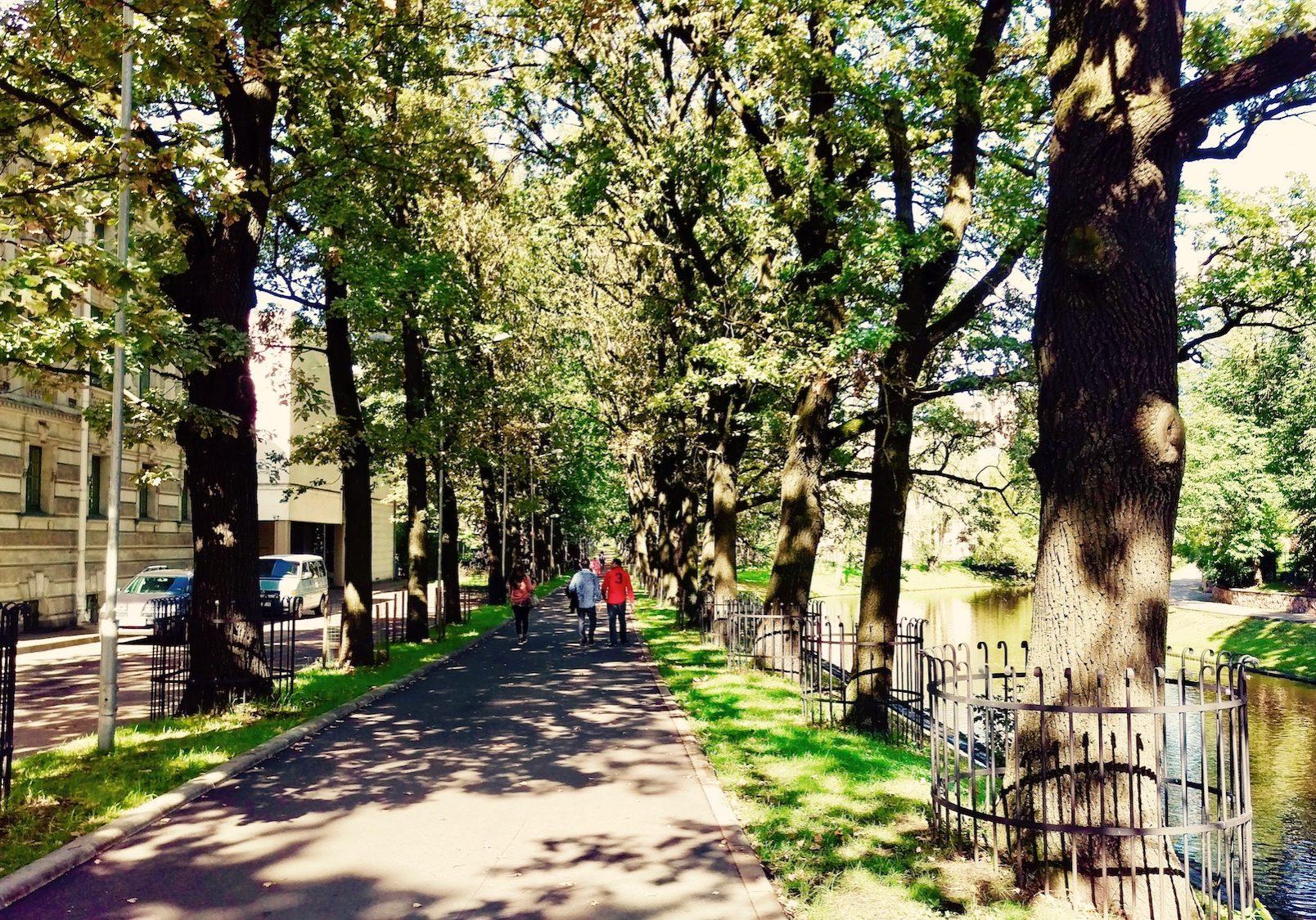 Kronvald park in Riga