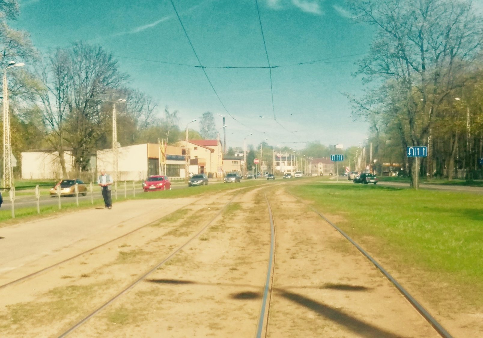 Tram stop right next to Riga Stradins University