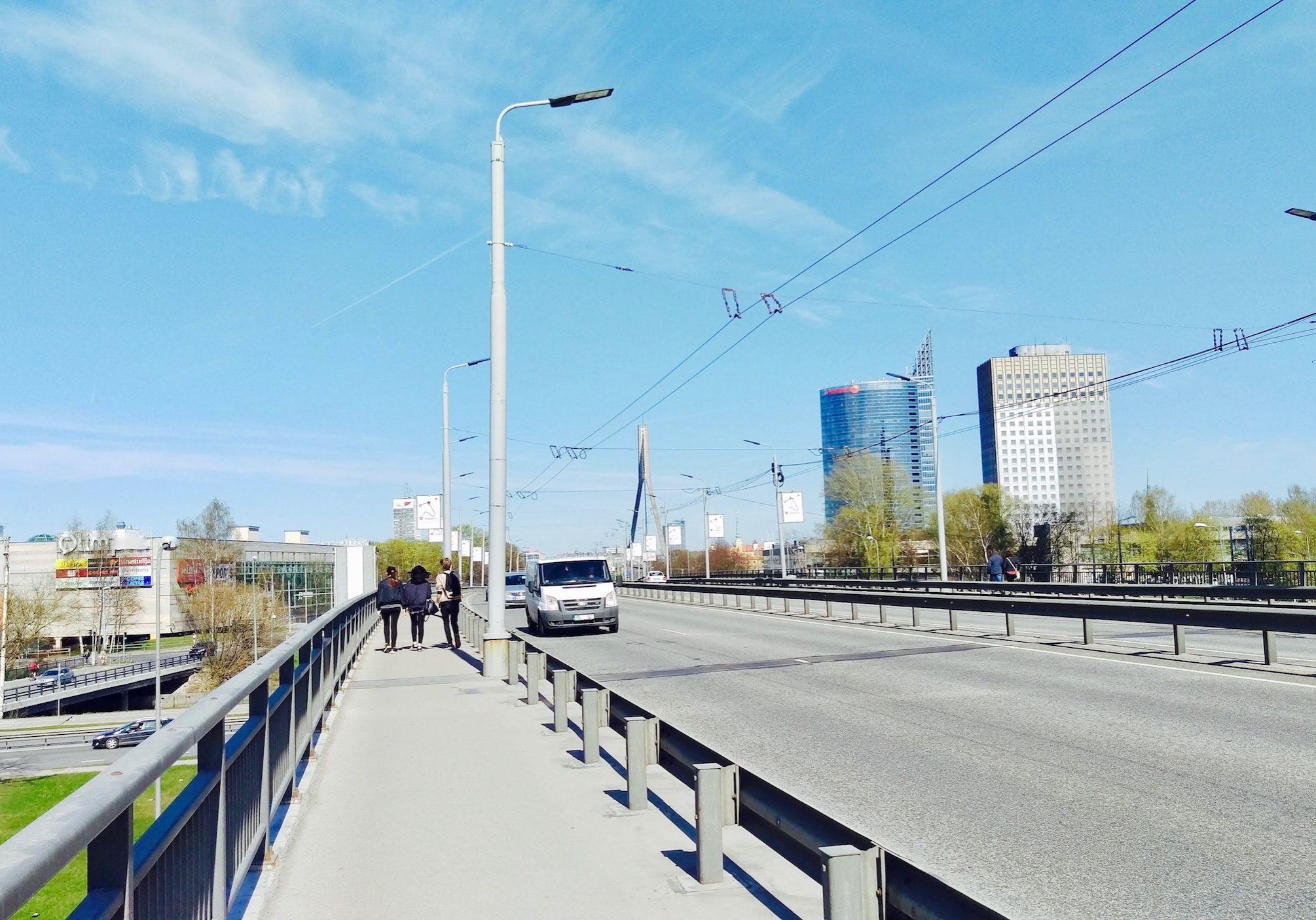 Krišjāņa Valdemāra street & Vanšu Bridge
